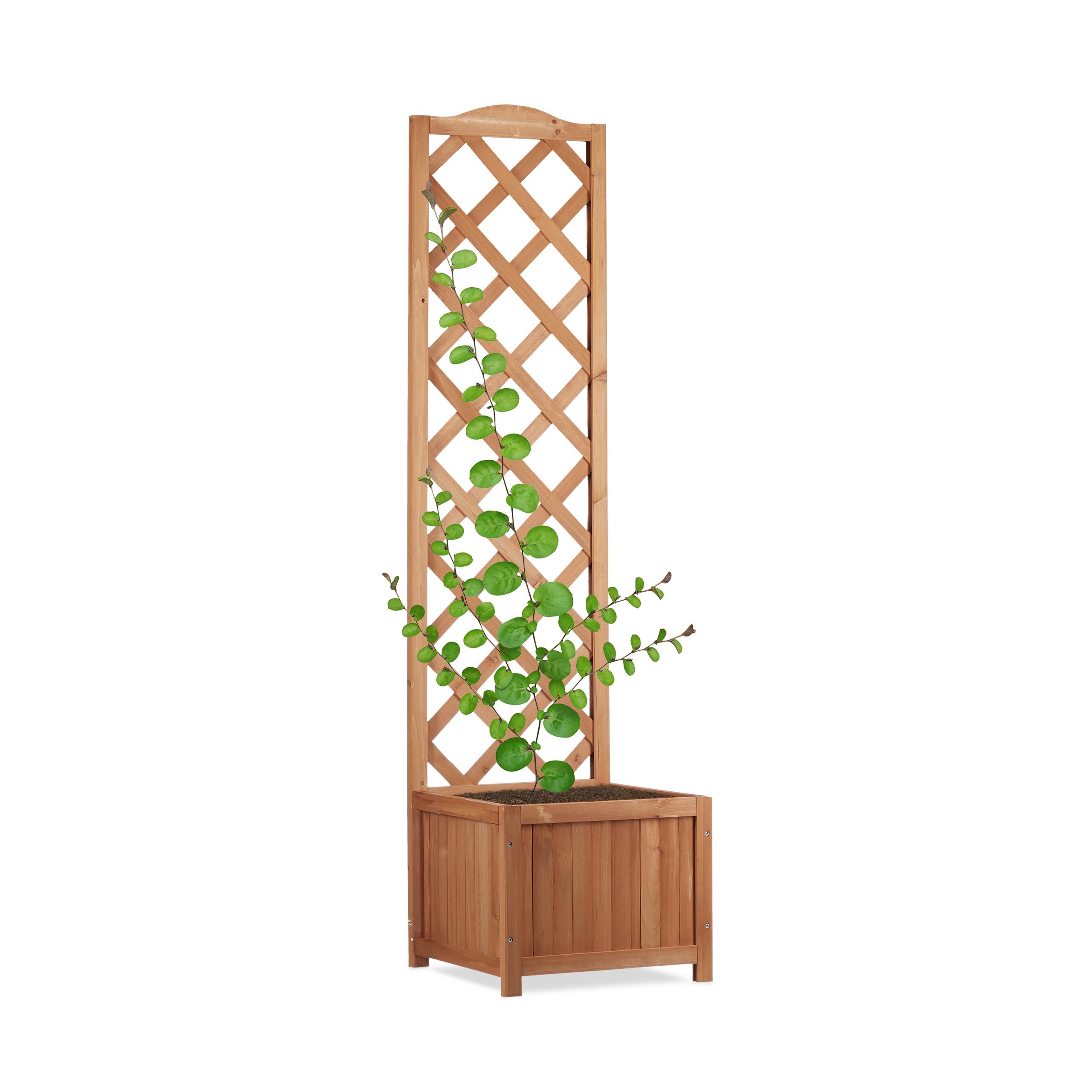 outdoor planter box with trellis weatherproof lattice. Black Bedroom Furniture Sets. Home Design Ideas