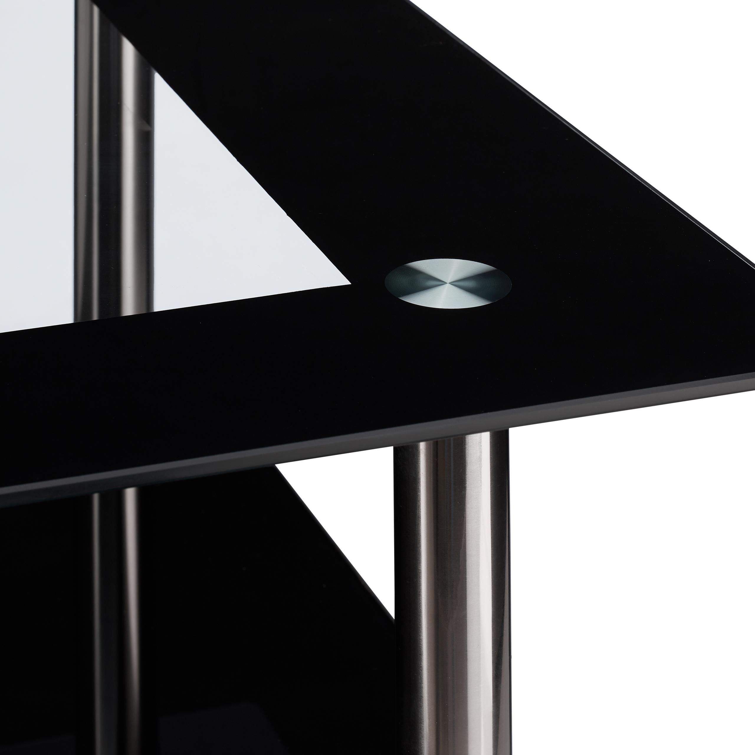 Couchtisch schwarzglas wohnzimmertisch glastisch niedrig for Glastisch wohnzimmertisch