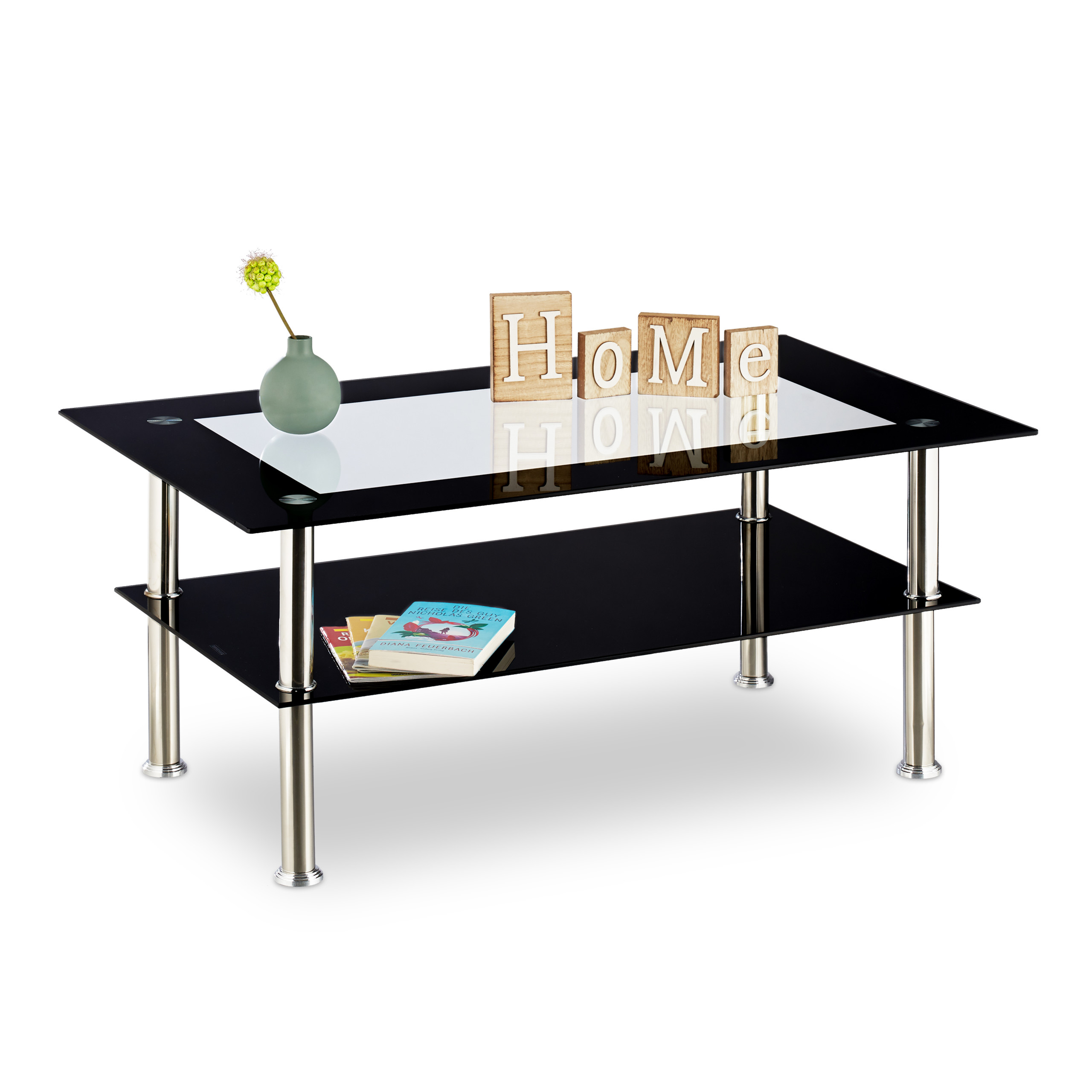 Table Basse Verre Noir Table De Salon Vitre Table Dappoint Peu