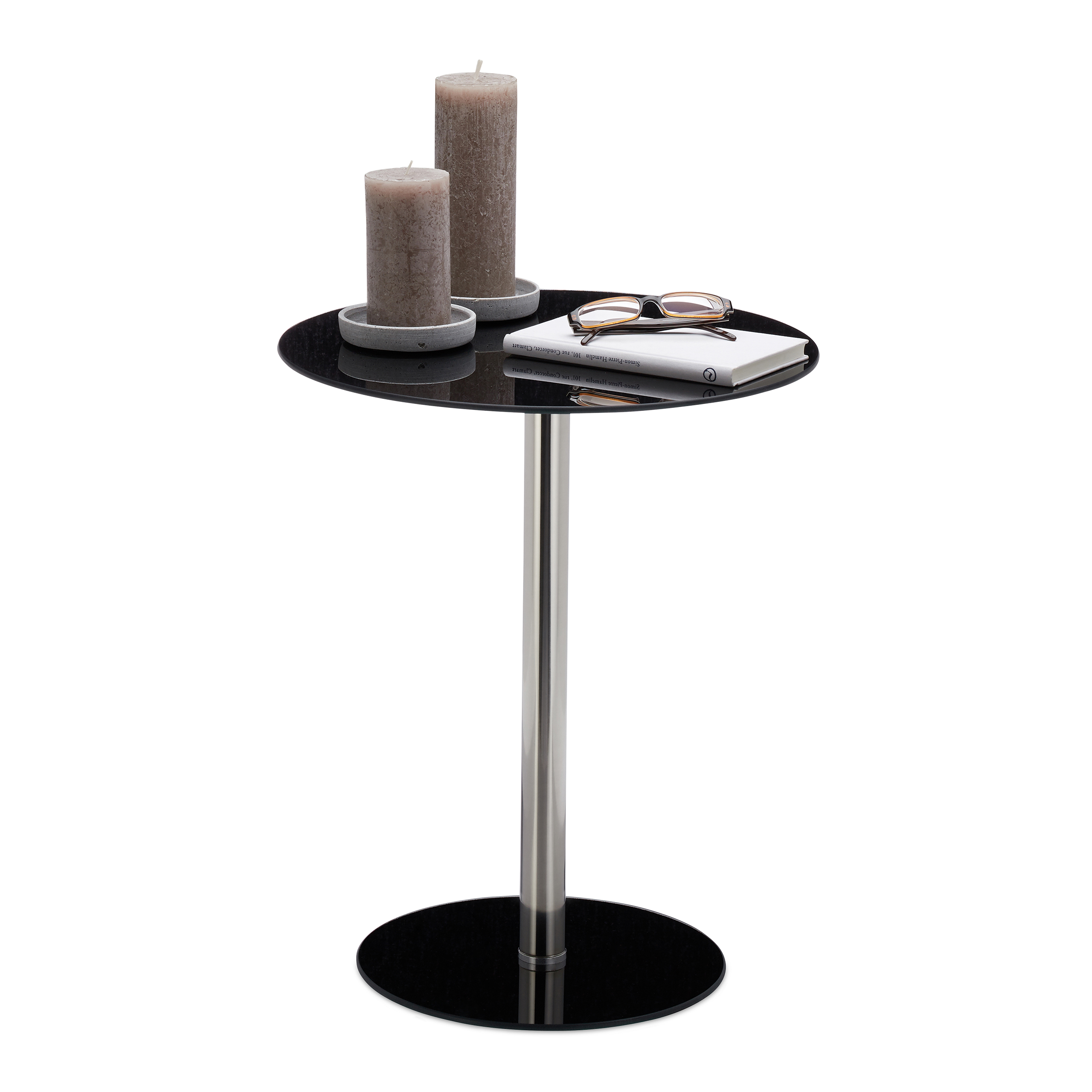 Table Dappoint Verre Inox Ronde Table Design De Salon Pause Café