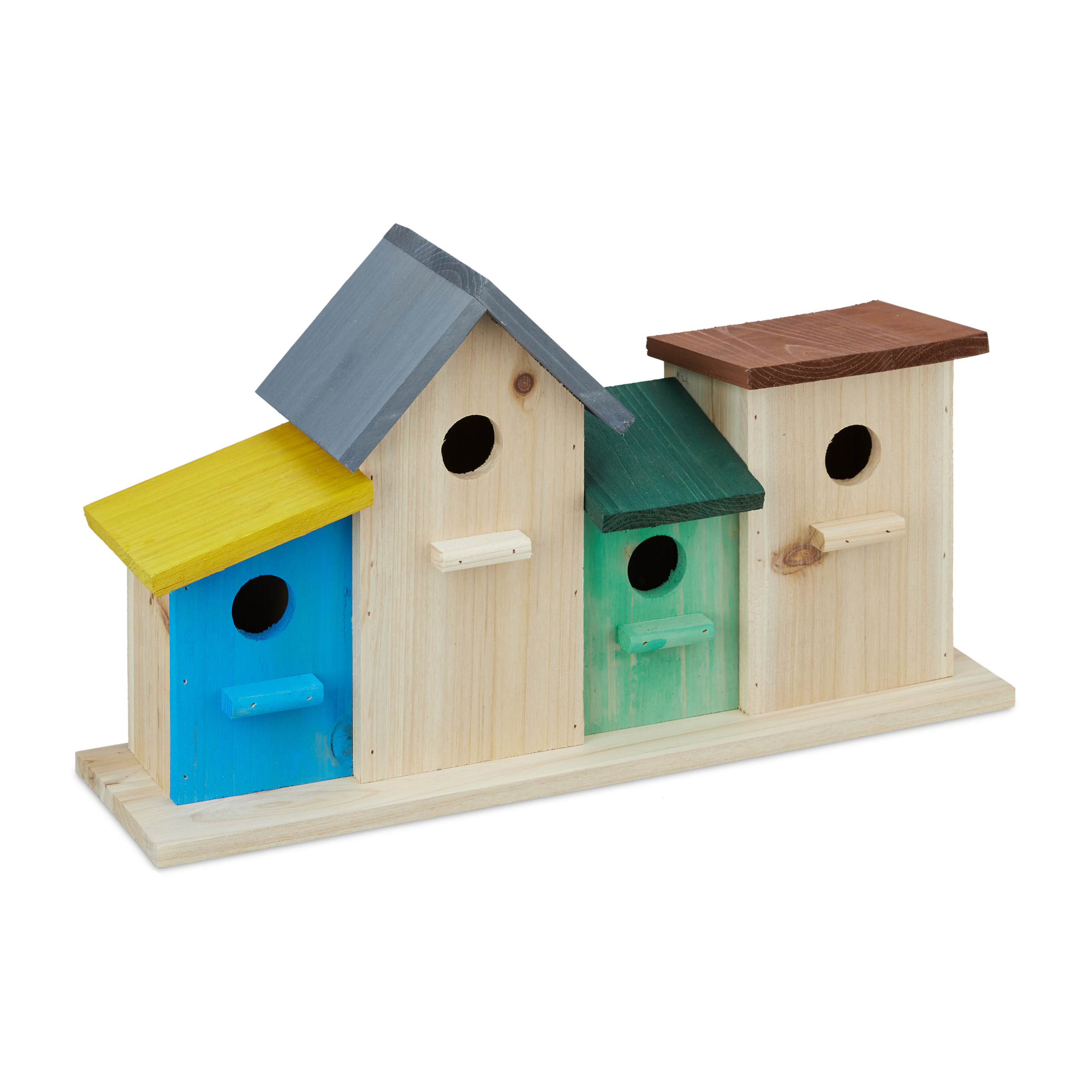 Casette Per Uccelli Colorate Nidi Decorativi Base In Legno Da