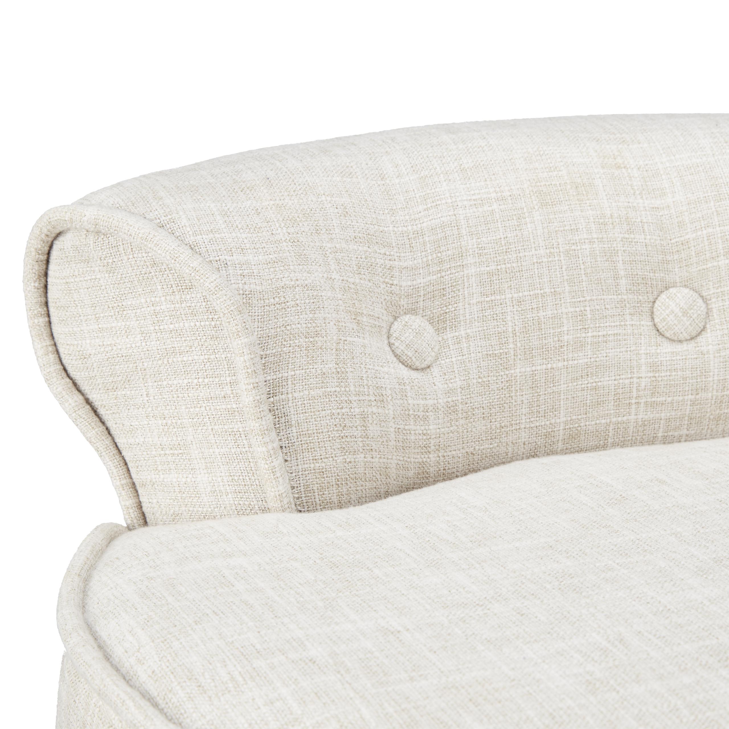 Stuhl Weiß Niedrige Lehne Sitzhocker Polsterstuhl Stoff