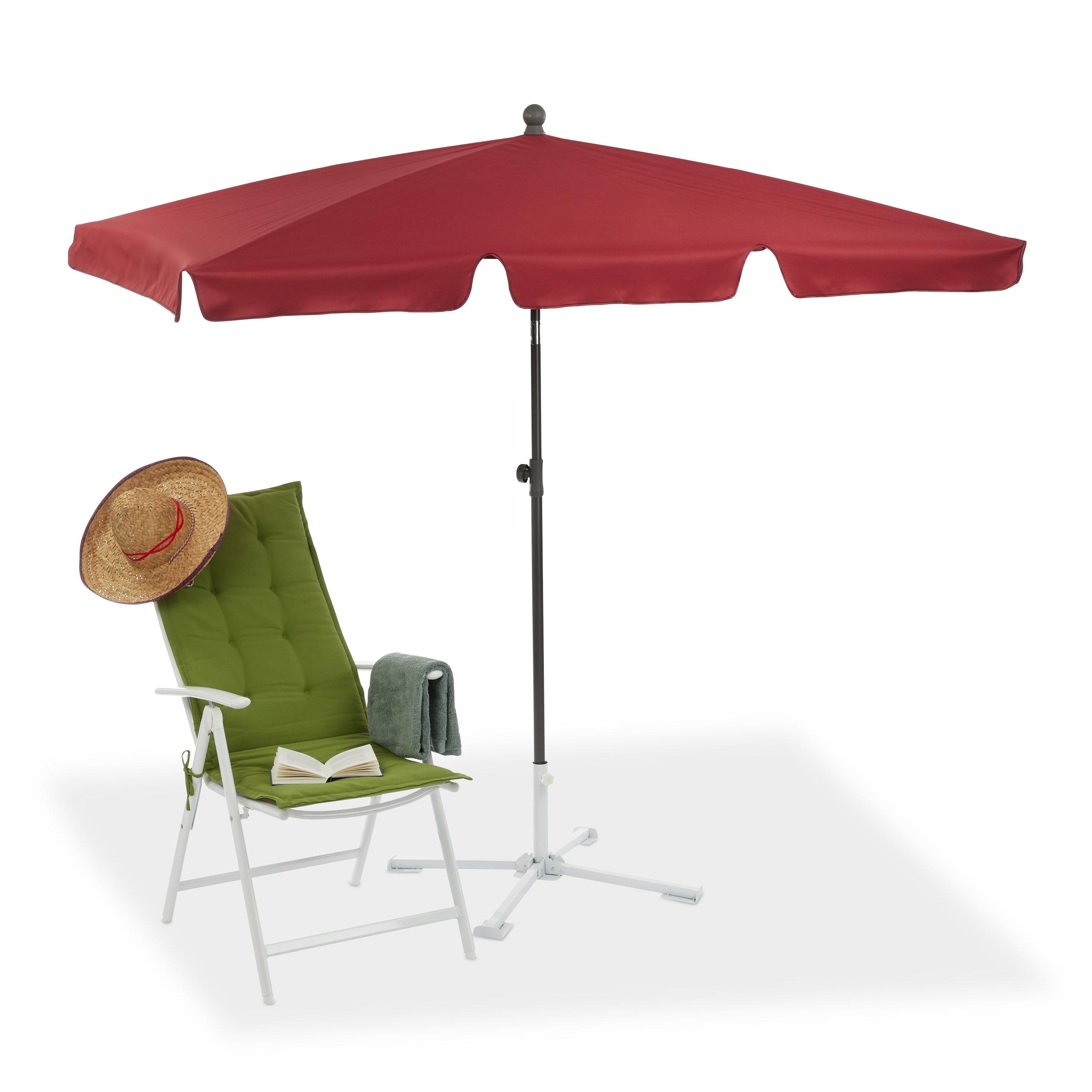 Sonnenschirm Rechteckig 200 X 120 Cm Gartenschirm Strandschirm