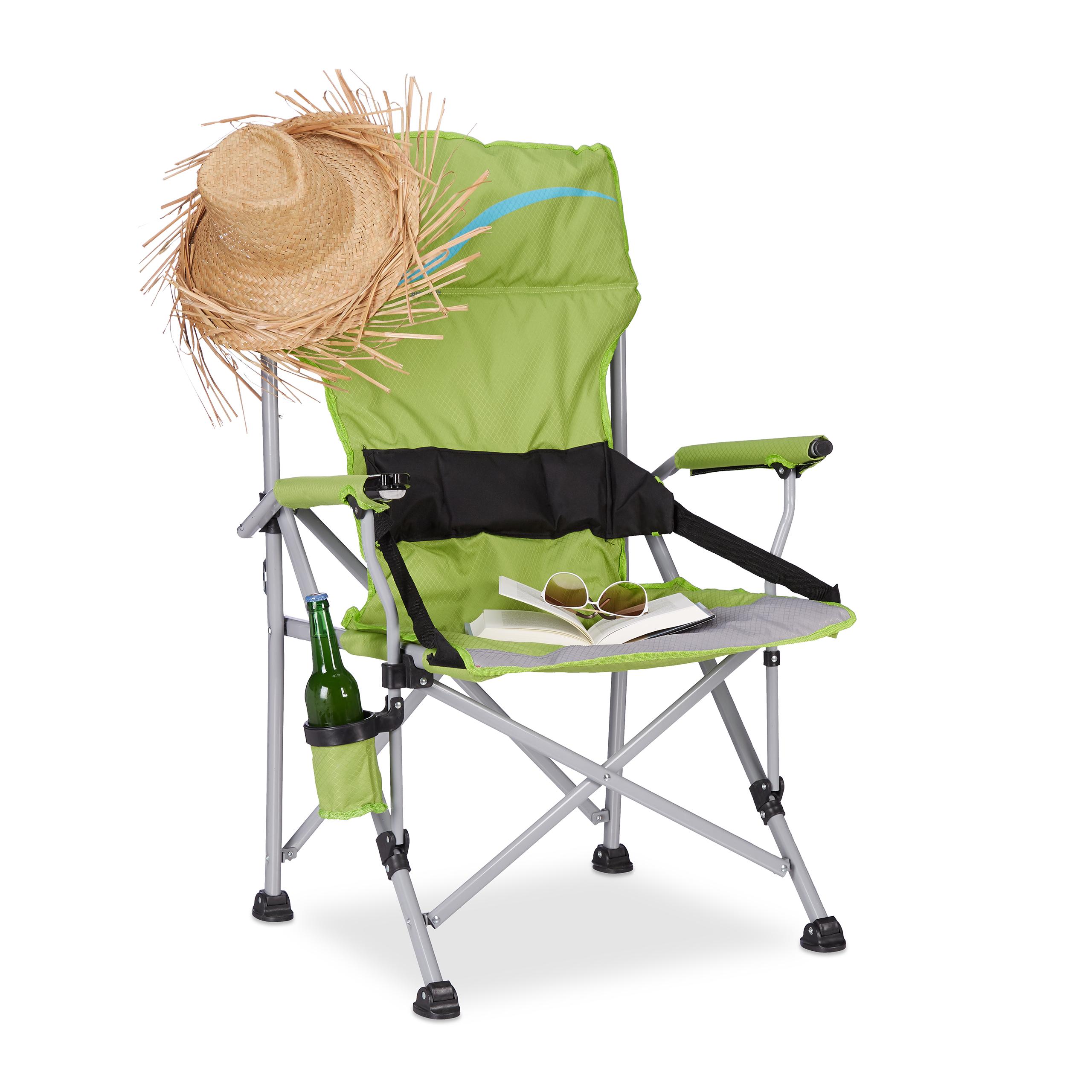 Silla-plegable-XL-De-tela-y-acolchada-Camping-playa-o-piscina-Verde-o-azul