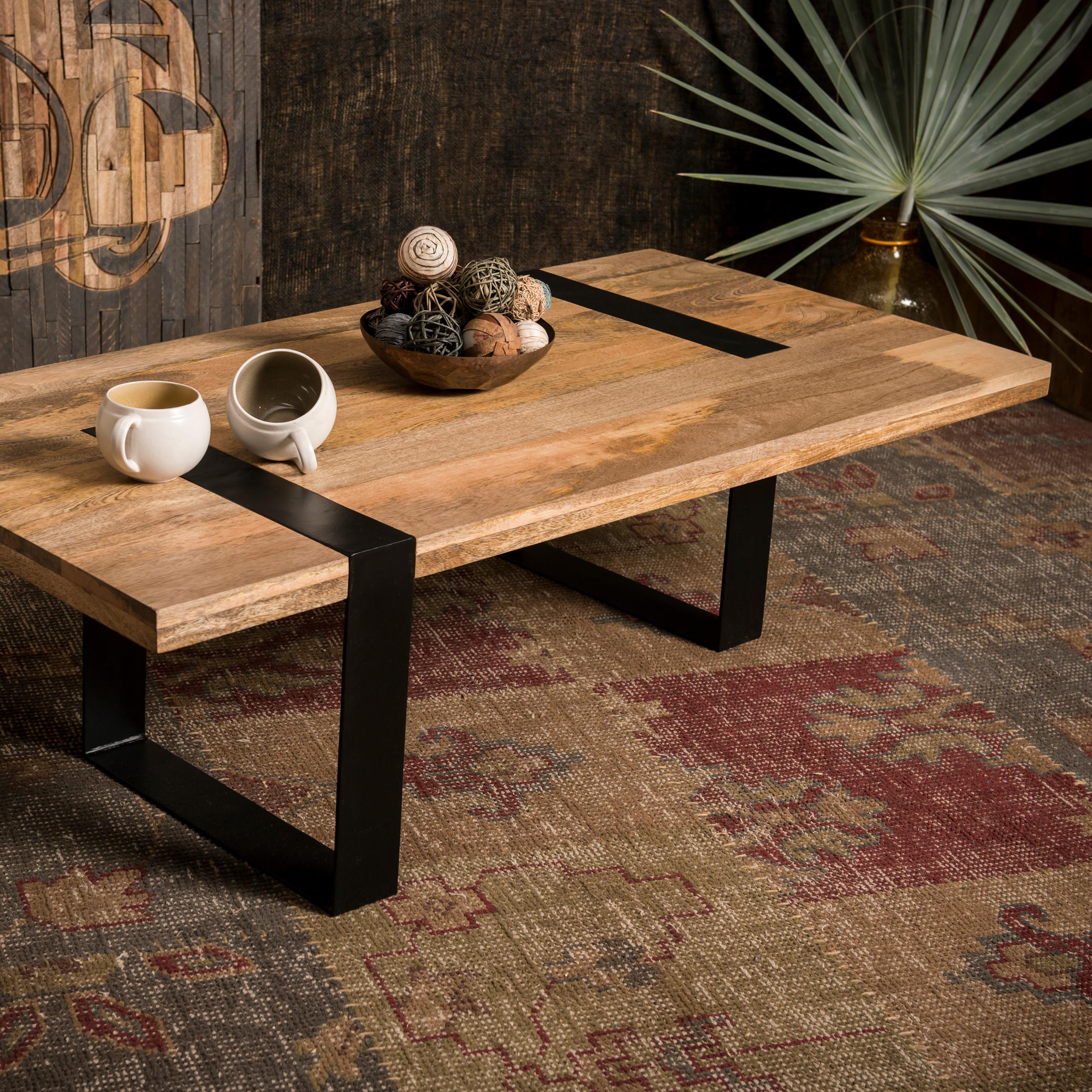 Table De Salon Bois Massif Table Basse Moderne Petite Table Canapé