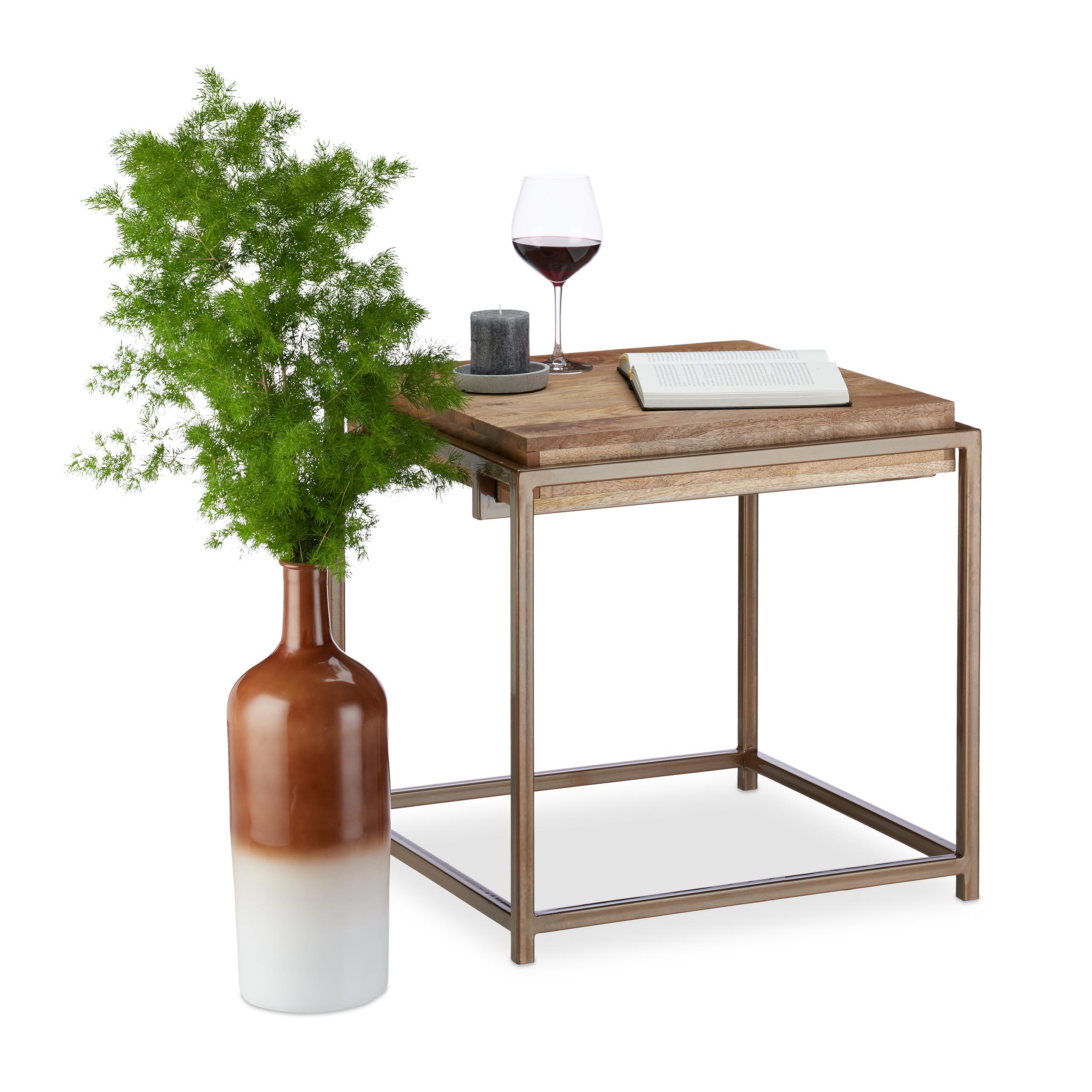 Table d\'appoint en bois de manguier, table salon moderne table basse ...