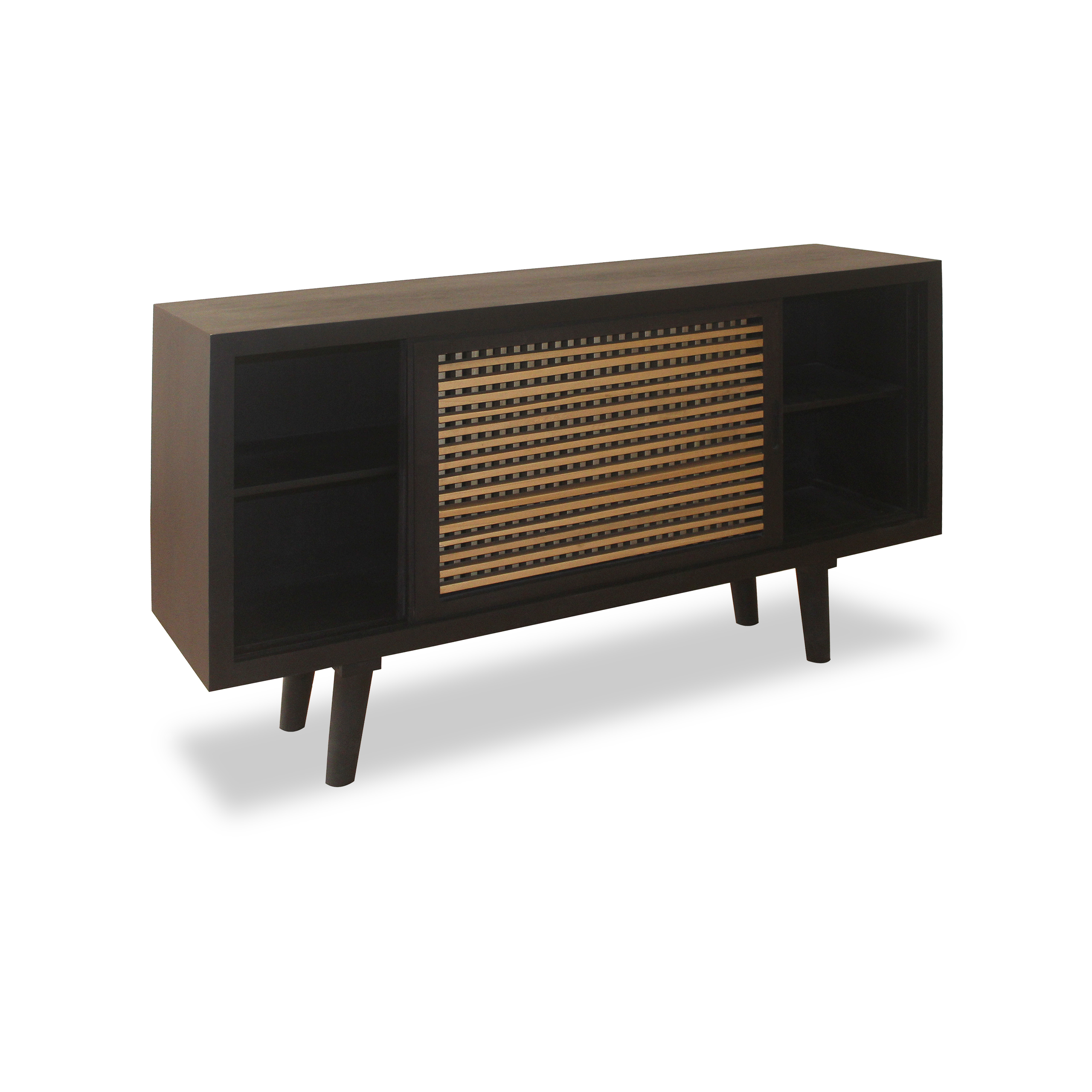 sideboard holz anrichte k che wohnzimmerschrank modern kommode braun 160 cm ebay. Black Bedroom Furniture Sets. Home Design Ideas