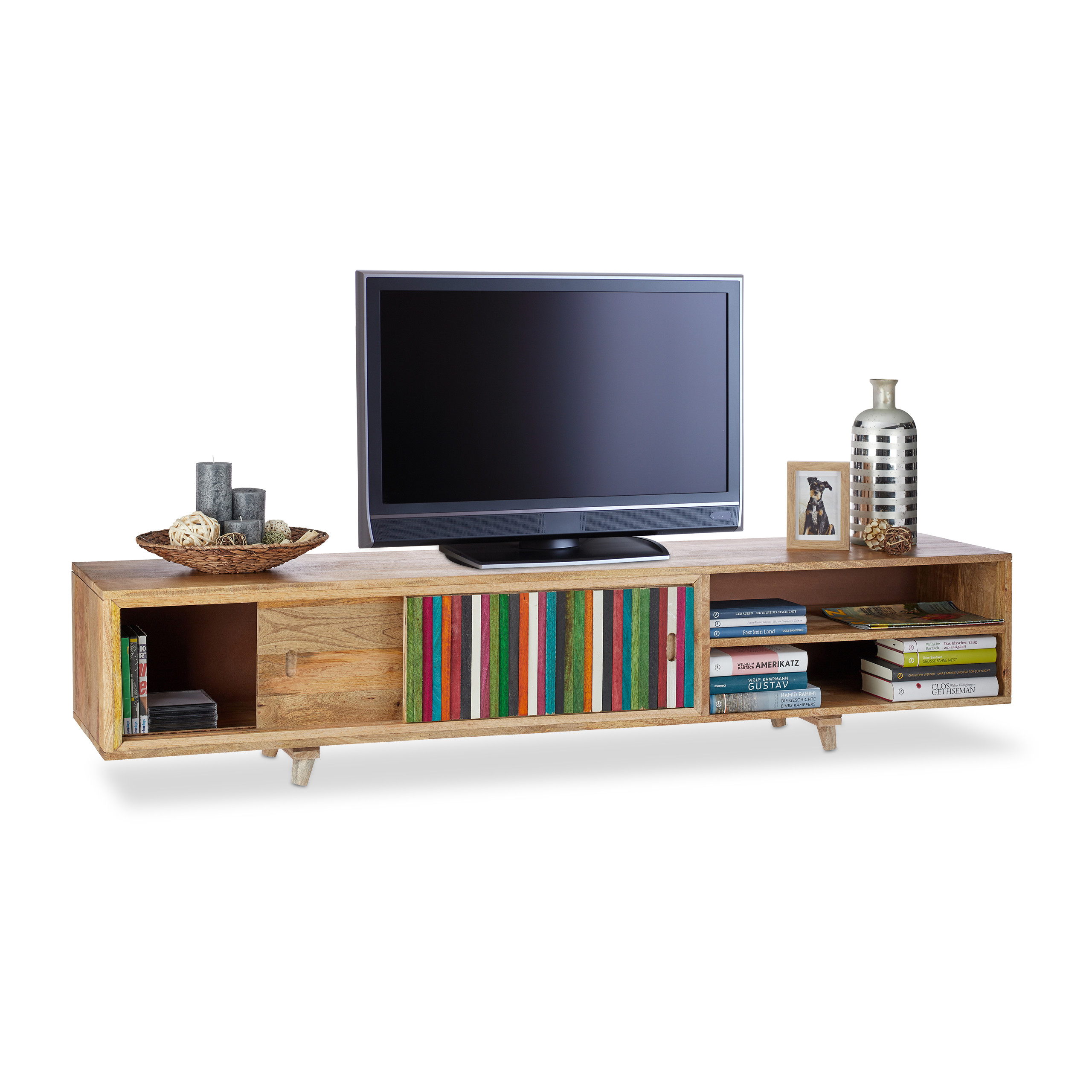 tv lowboard tv board tv schrank tv tisch hifi rack tv bank tv regal 180 cm ebay. Black Bedroom Furniture Sets. Home Design Ideas
