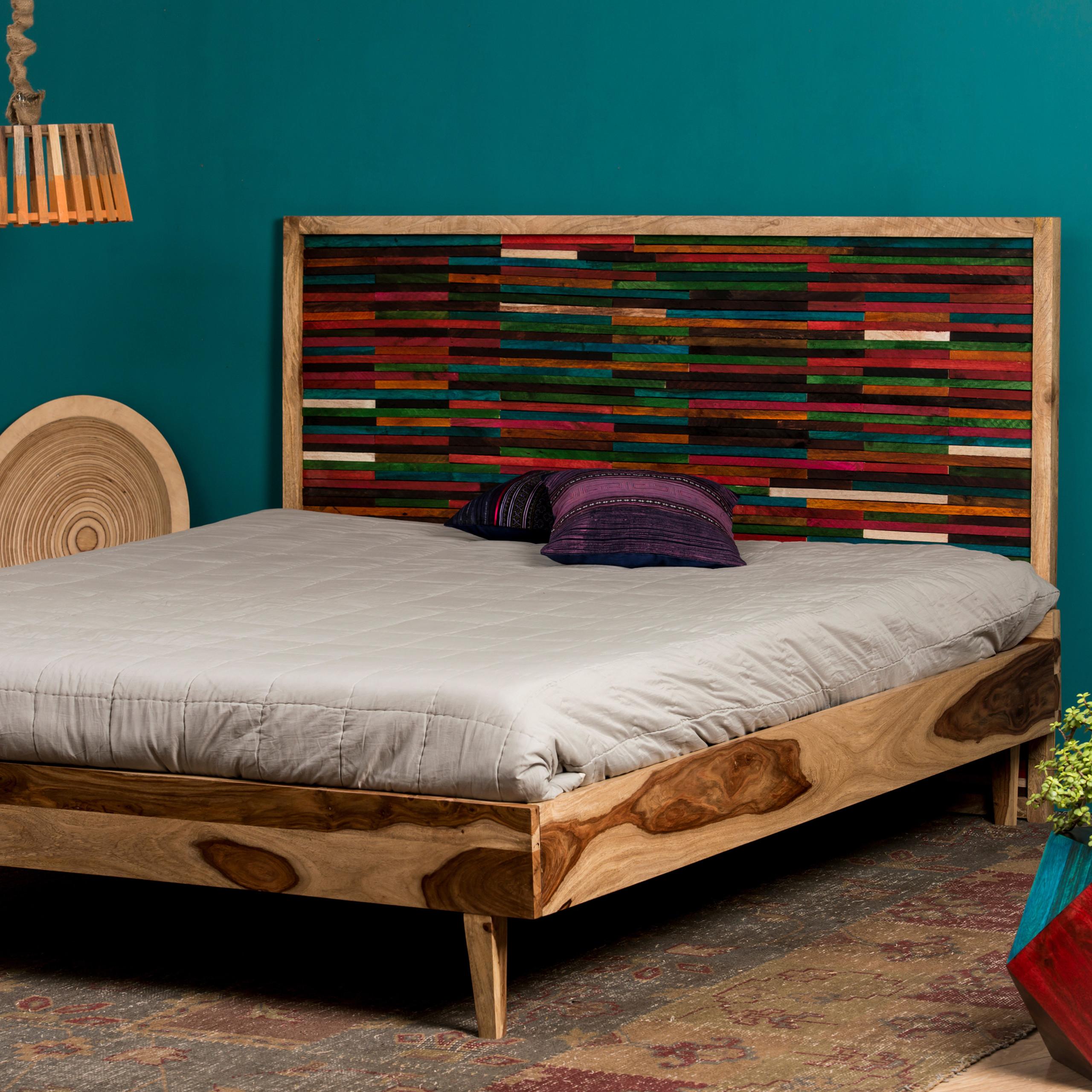 Letto matrimoniale 180 x 200 cm, Struttura in legno, senza materasso ...