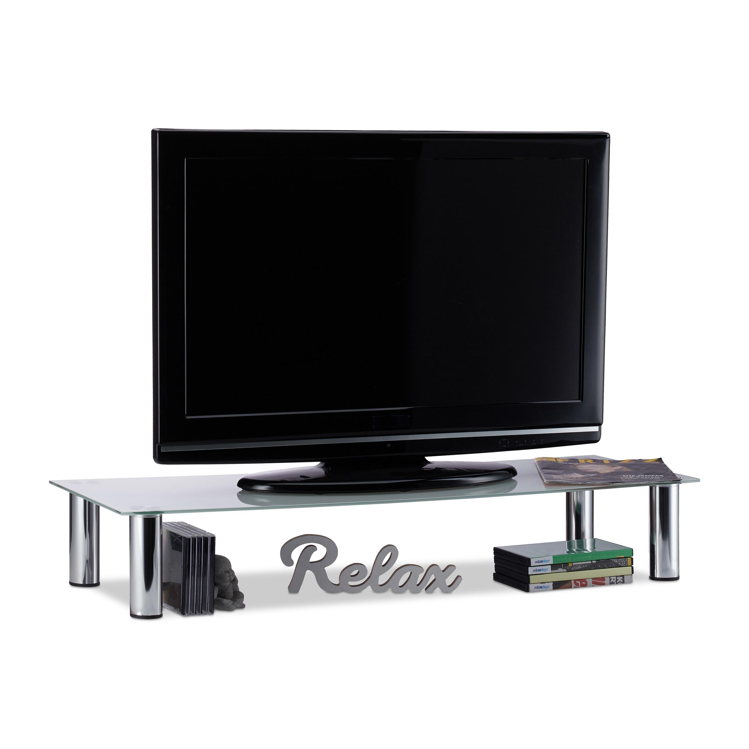 tv tisch glas tischaufsatz fernsehtisch wei tv aufsatz. Black Bedroom Furniture Sets. Home Design Ideas