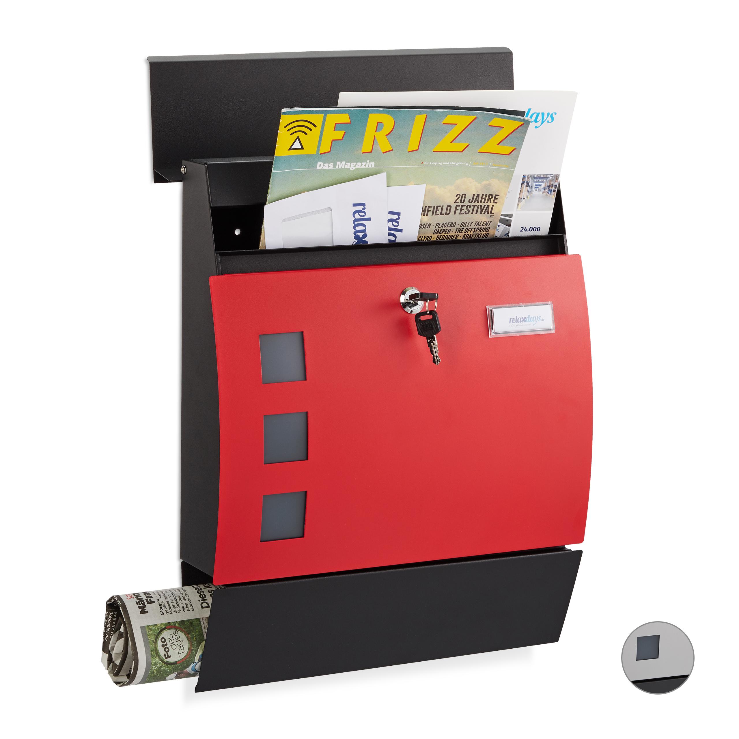 Briefkasten Mailbox DIN A4 Postkasten Postbox mit Schloss modernes Design