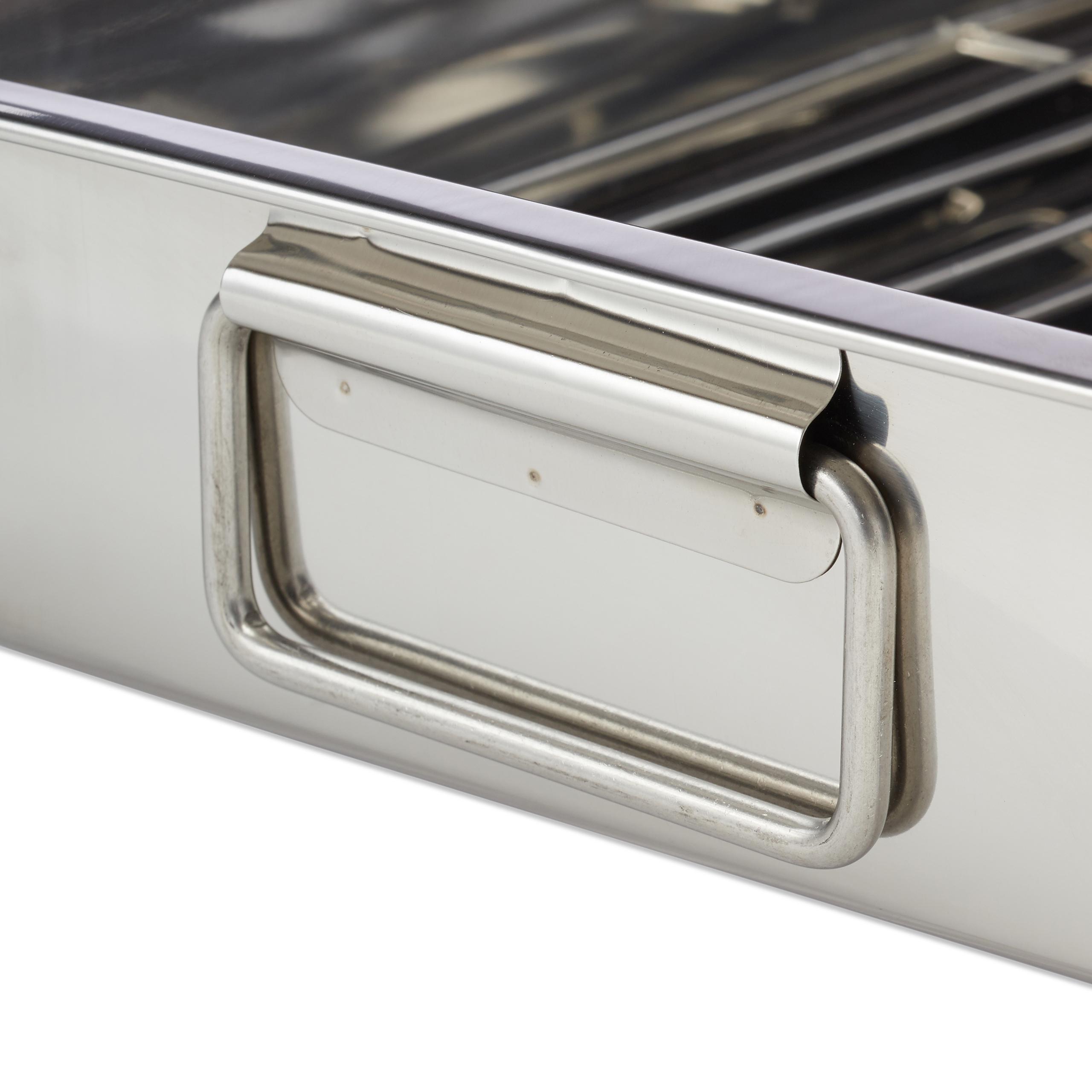 Braeter-mit-Rost-Edelstahl-Auflaufform-Bratform-Ofenform-Schwedenschale-Bratreine Indexbild 15