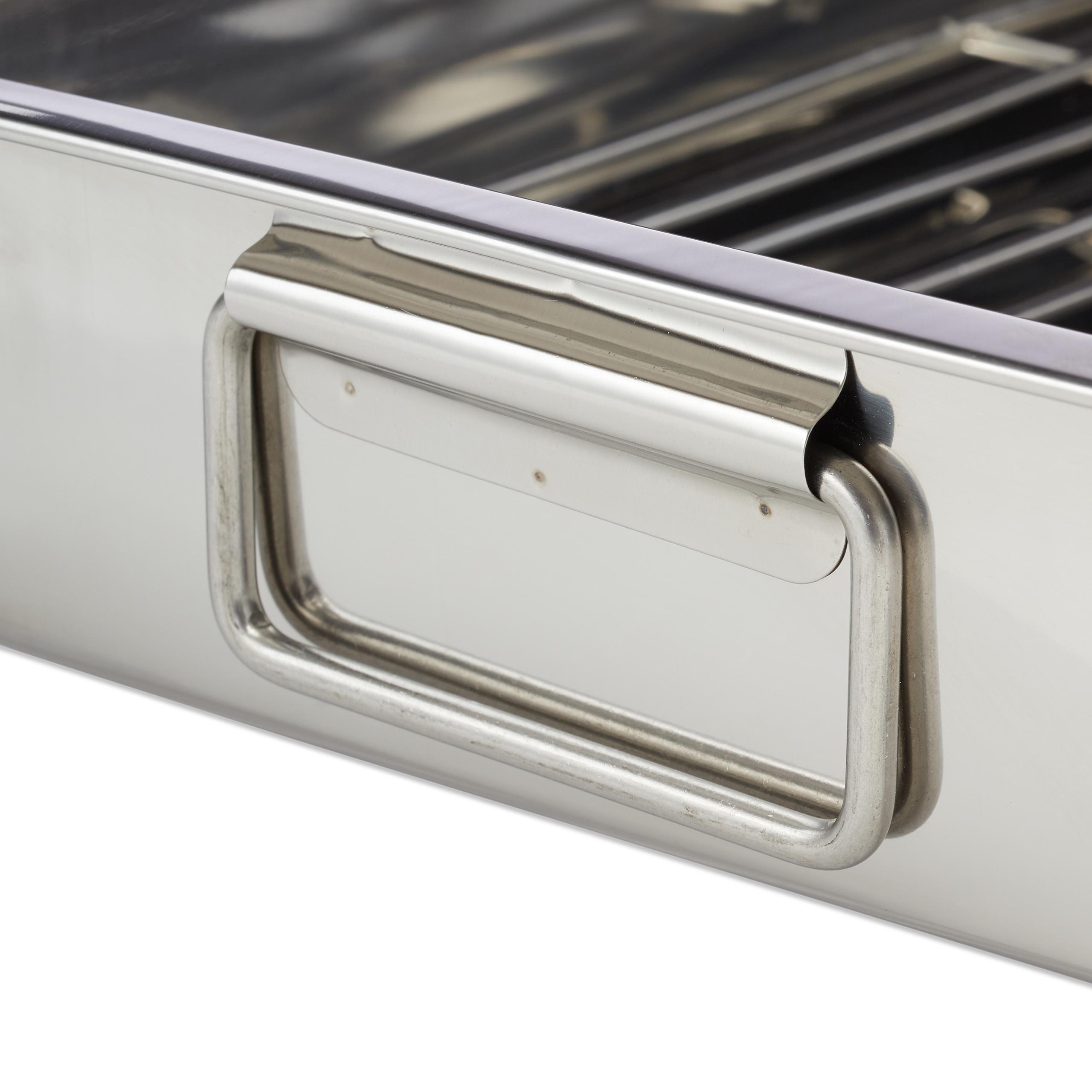 Braeter-mit-Rost-Edelstahl-Auflaufform-Bratform-Ofenform-Schwedenschale-Bratreine Indexbild 29