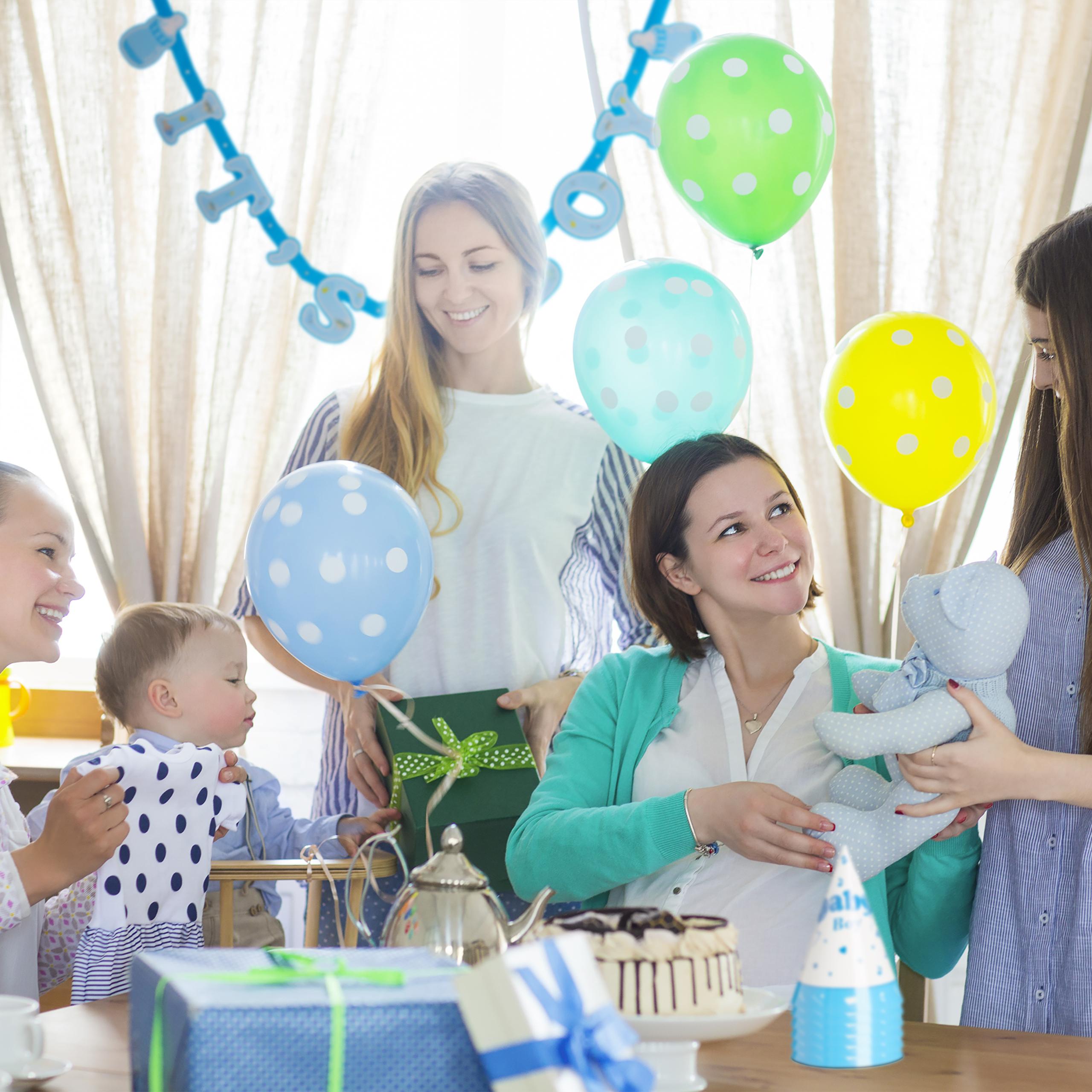 babyparty deko set 19 teilig babyshower boy girl zubeh r. Black Bedroom Furniture Sets. Home Design Ideas