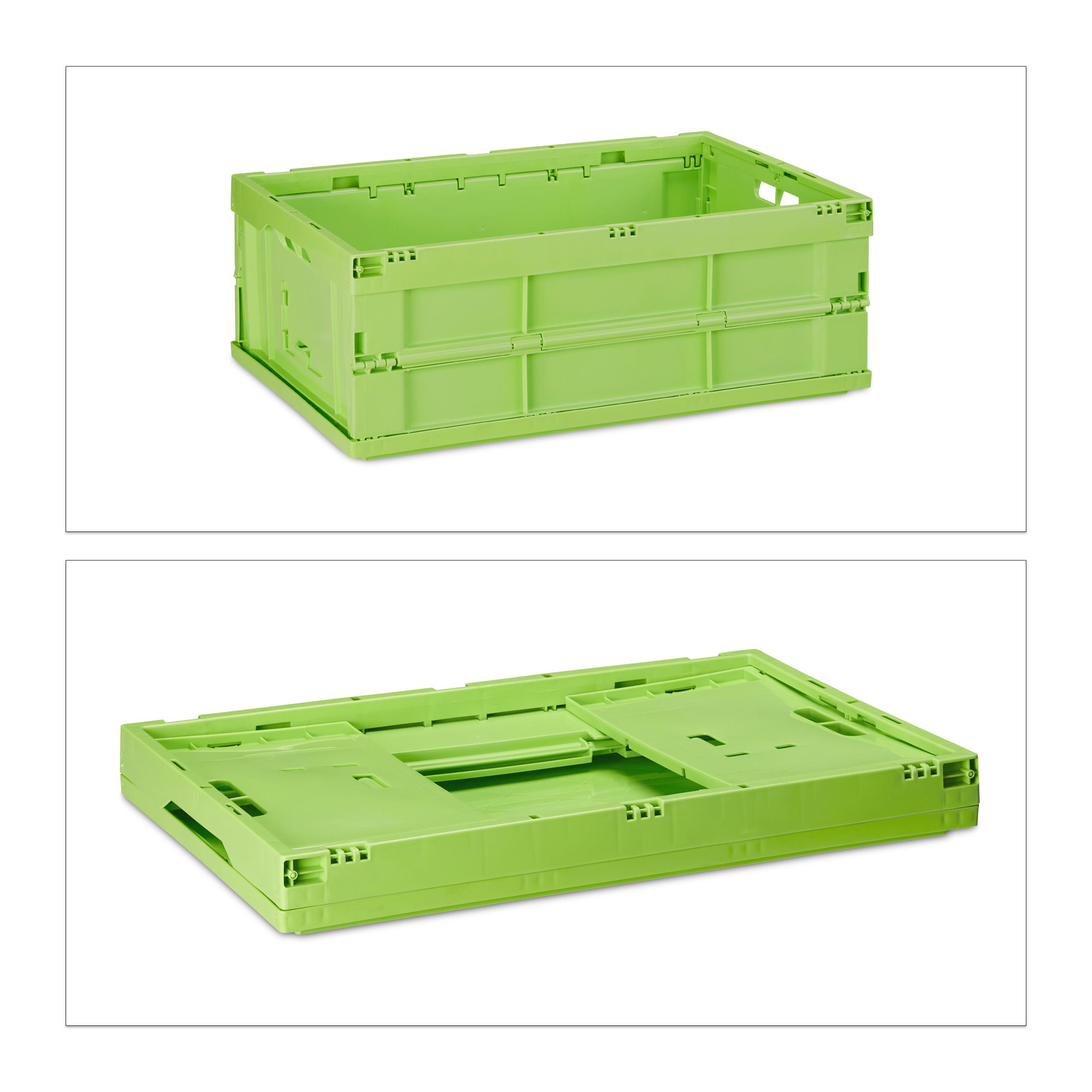 2 x Transportbox im Set Profi Klappboxen 40 L Aufbewahrungskisten Stapelkisten