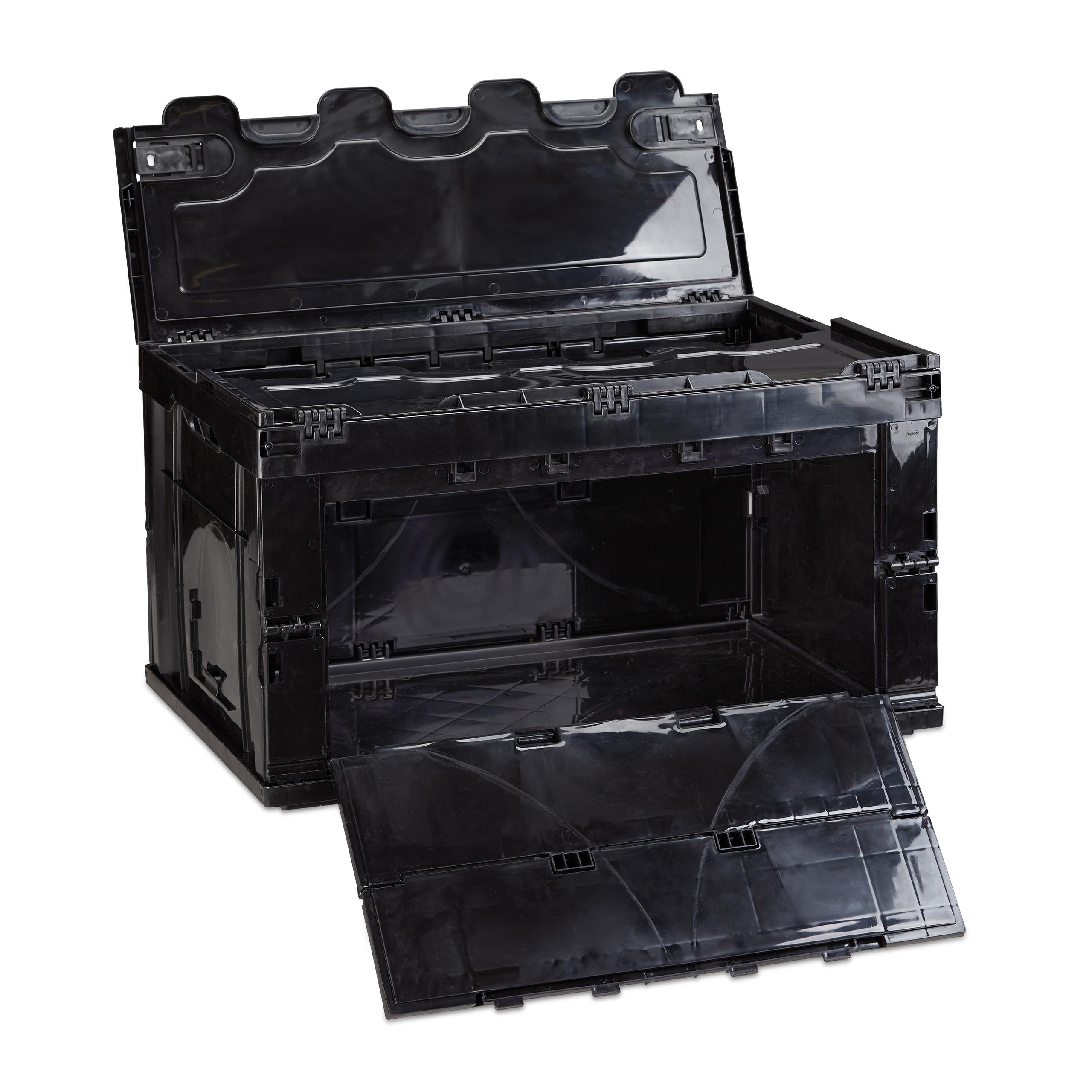 8er set faltbox mit deckel aufbewahrungsbox klappbar. Black Bedroom Furniture Sets. Home Design Ideas