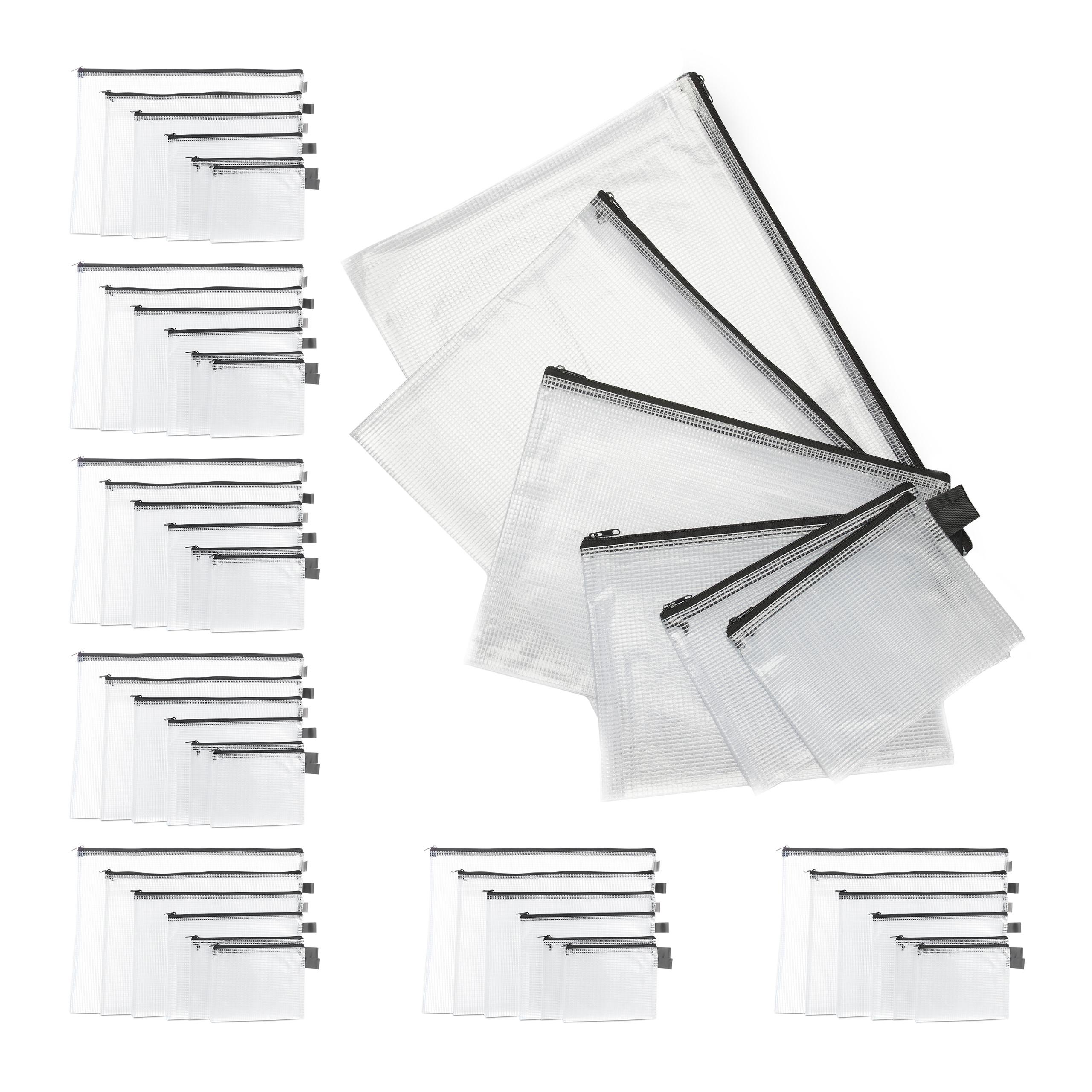 Dokumententasche 6 Stück PVC Tasche Dokumentenmappe A4 A5 Begleitpapiertasche