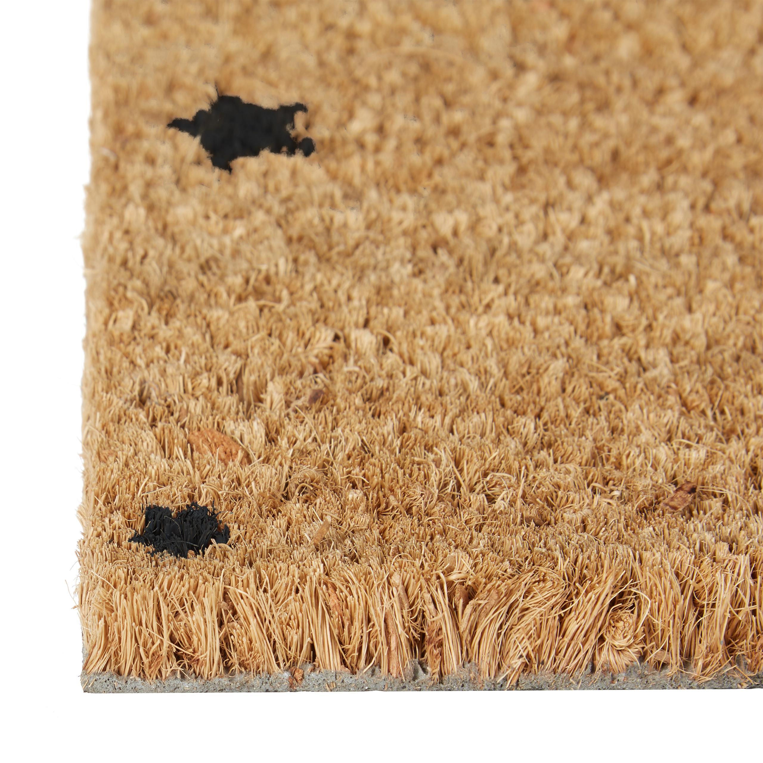 Indexbild 6 - Fußmatte Kokos Kokosmatte 60x40 STERNE Fußabtreter Schmutzmatte Türmatte natur