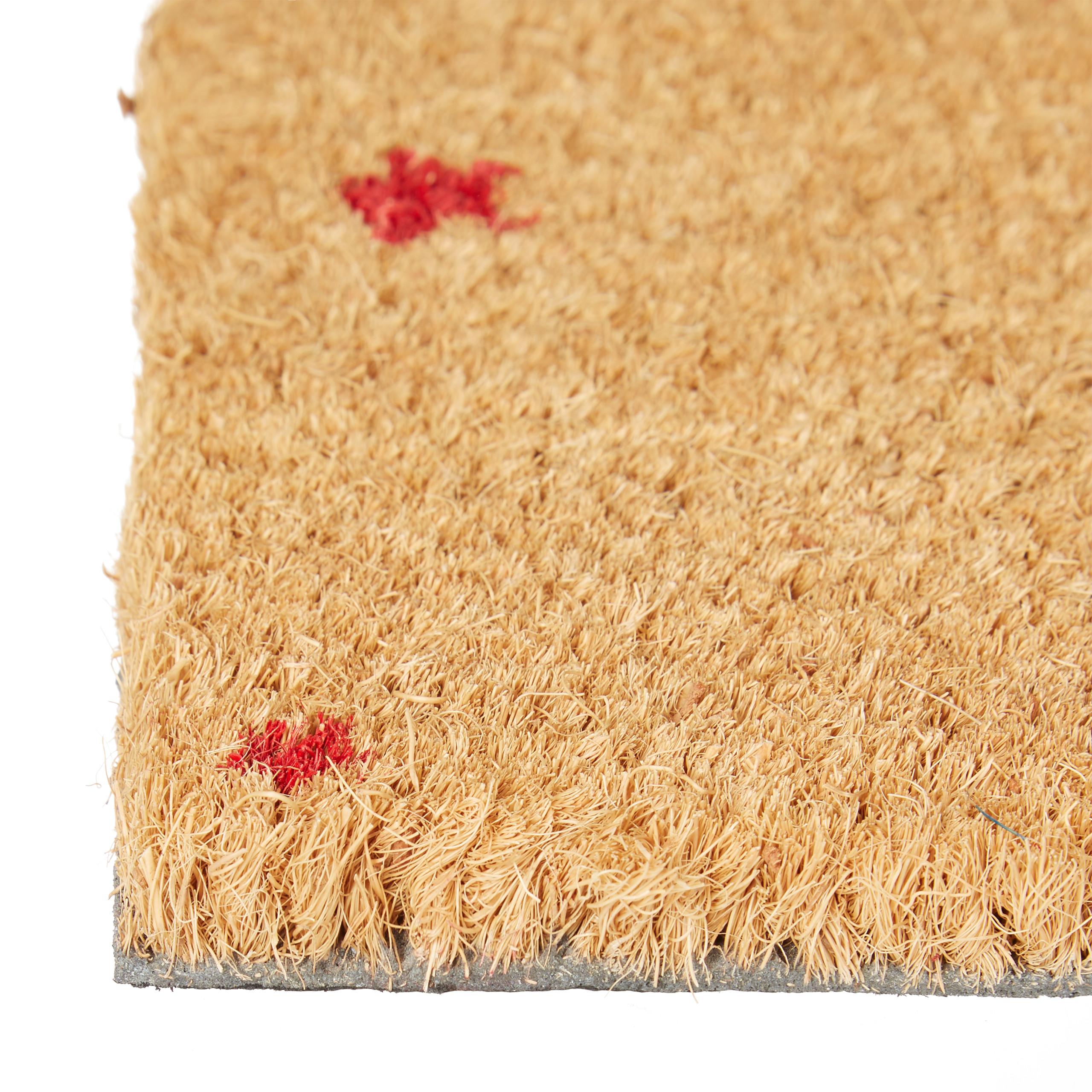 Indexbild 11 - Fußmatte Kokos Kokosmatte 60x40 STERNE Fußabtreter Schmutzmatte Türmatte natur