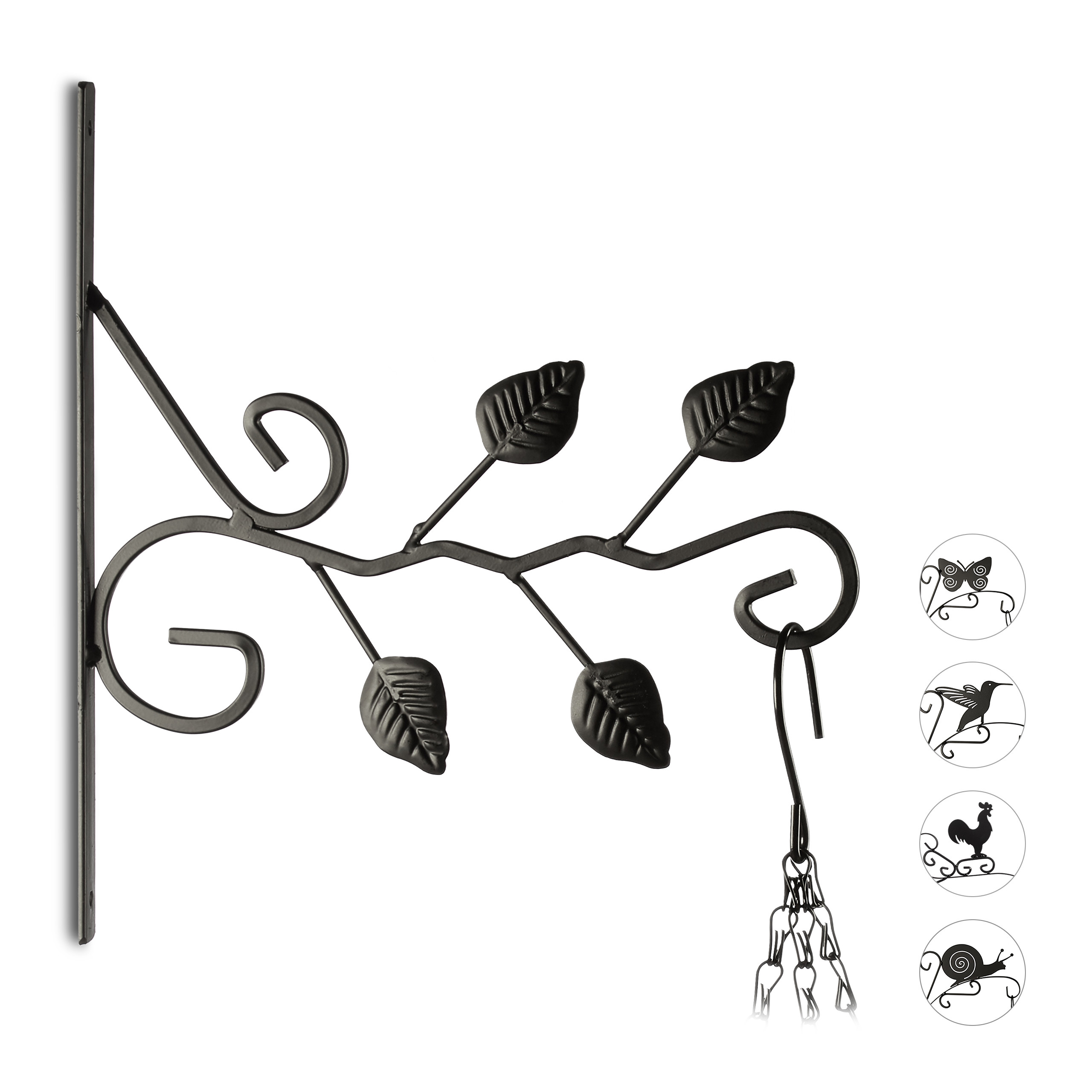 blumenhaken ampelhalter wand laterne vogel schmetterling schnecke bl tter deko ebay. Black Bedroom Furniture Sets. Home Design Ideas
