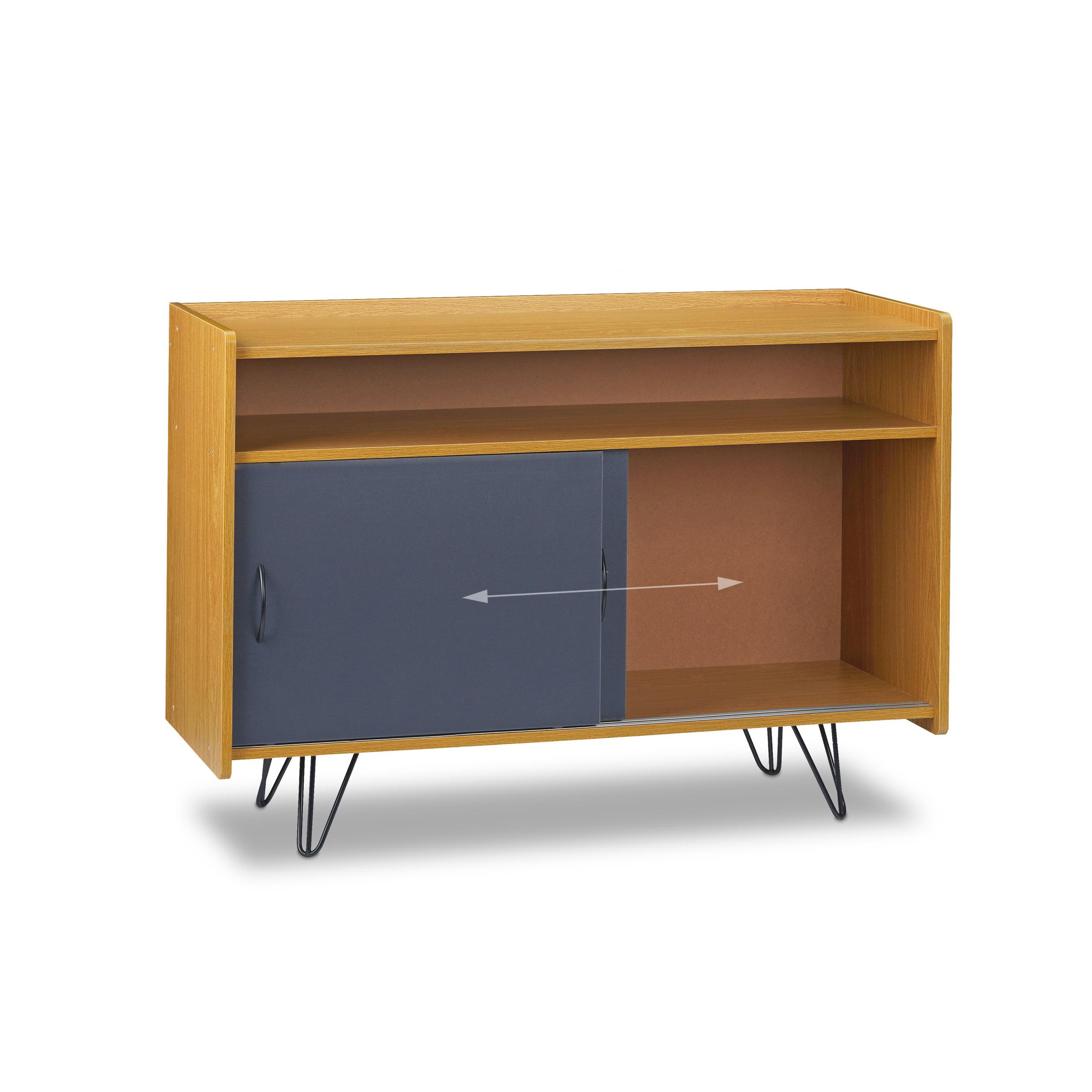 tv board vintage retro tv schrank tv sideboard. Black Bedroom Furniture Sets. Home Design Ideas
