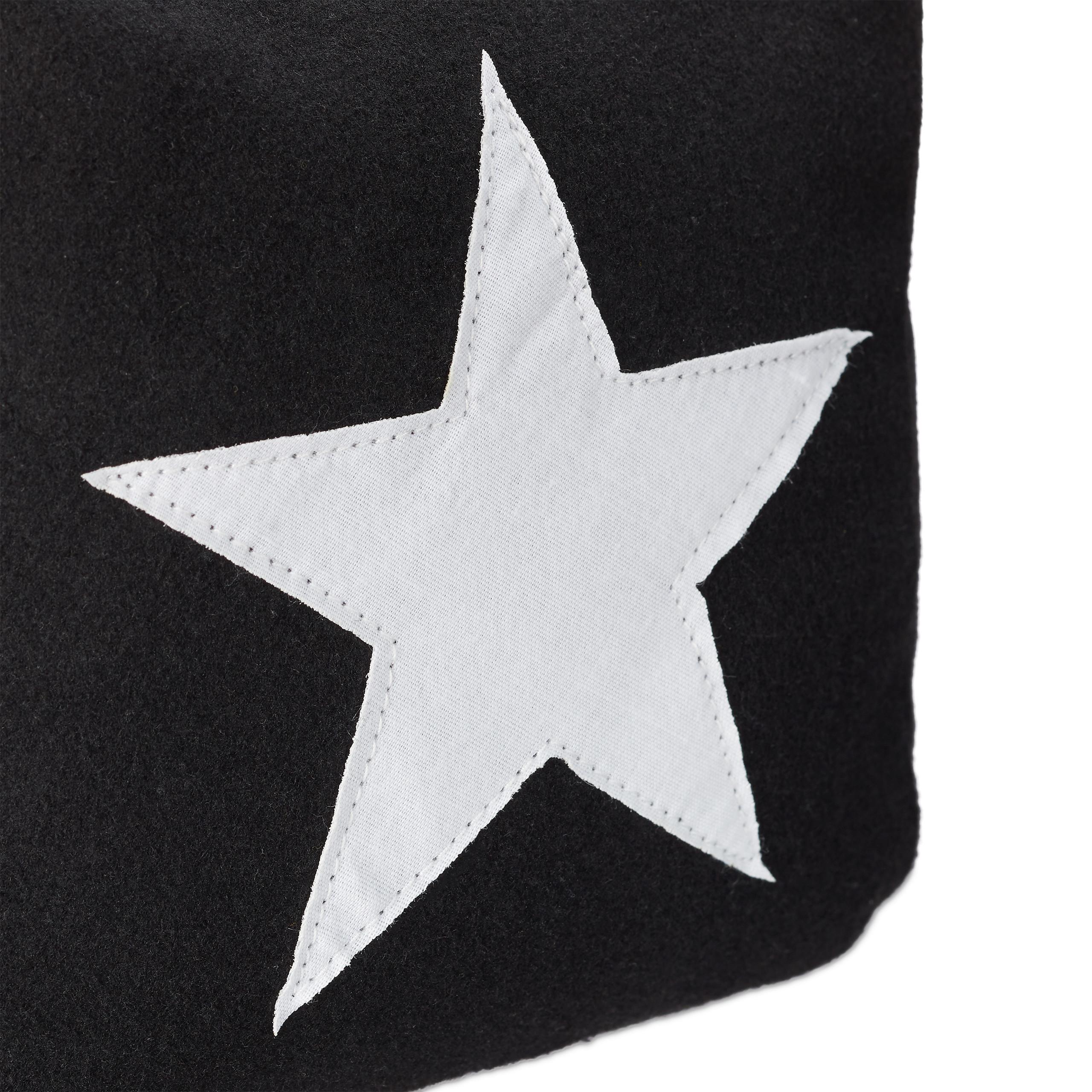 Türsack Würfel mit Griff Türpuffer Stoff modern schwarz 3 x Türstopper Stern