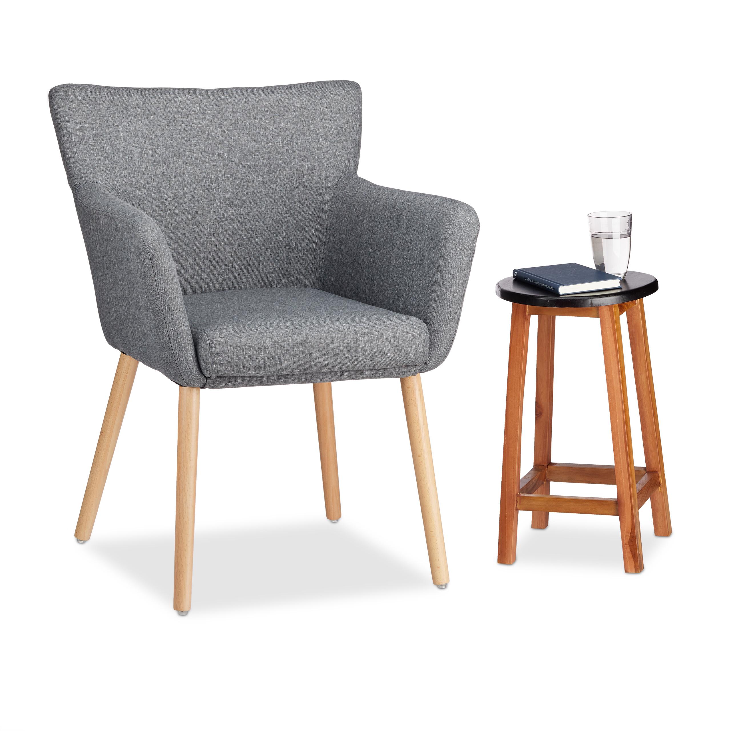 Upholstered Armchair, Modern Design, Fabric, Relaxing