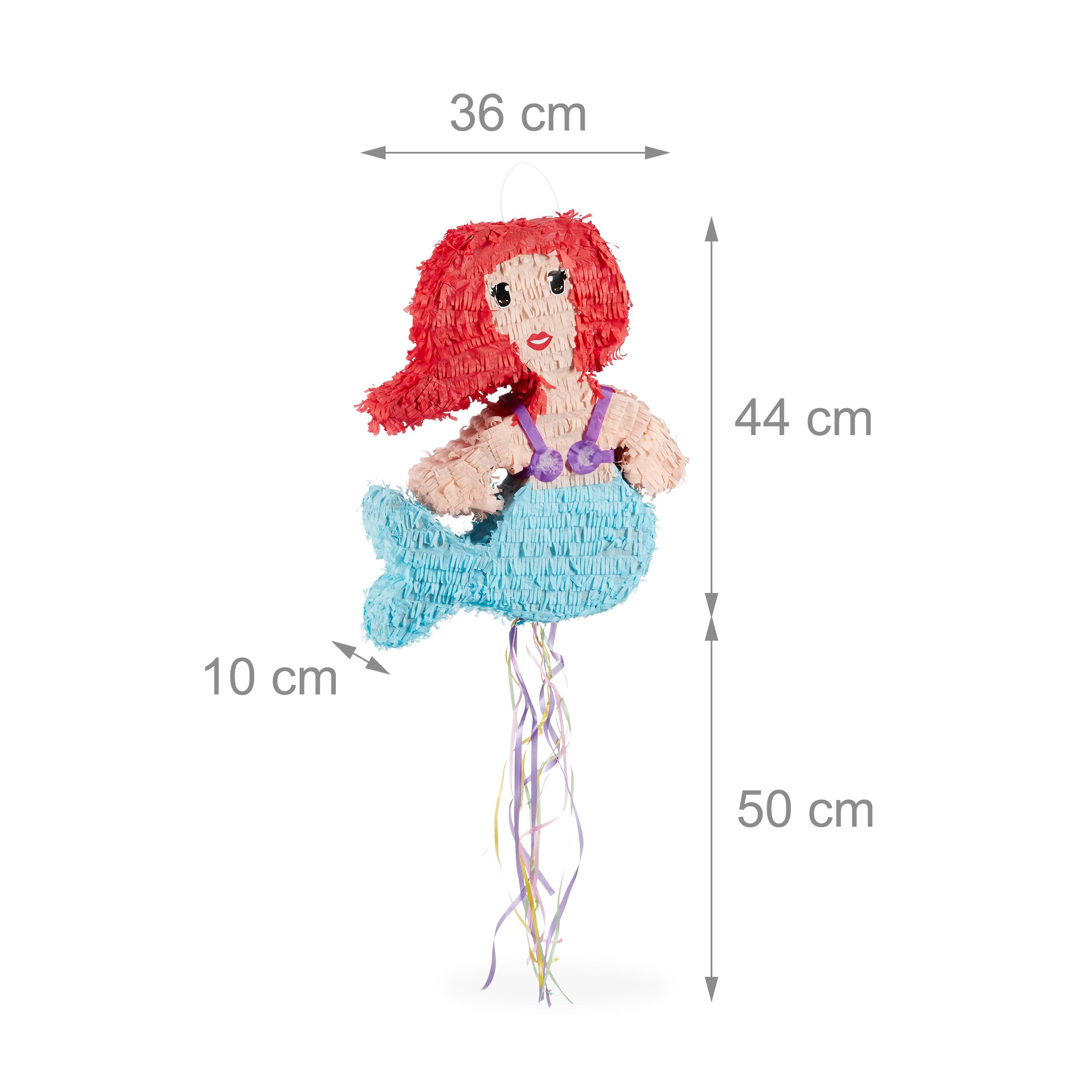 Ziehpinata Kinder Piñata Pinata Meerjungfrau Zugpinata Geburtstag Pullpinata