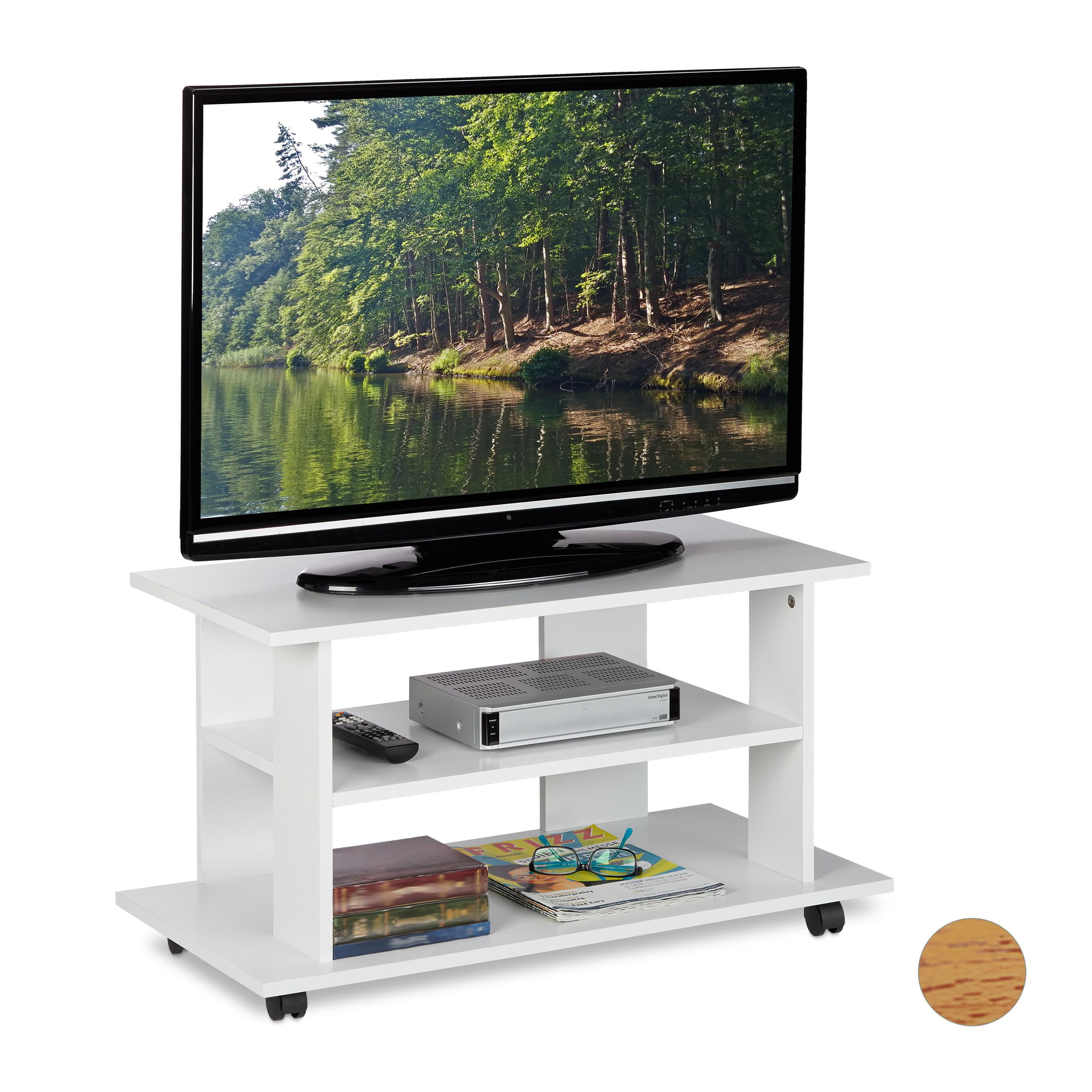 Tv Board Lowboard Tv Mobel Tv Tisch Fernsehtisch Mit Rollen Tv Regal Tv Kommode Ebay