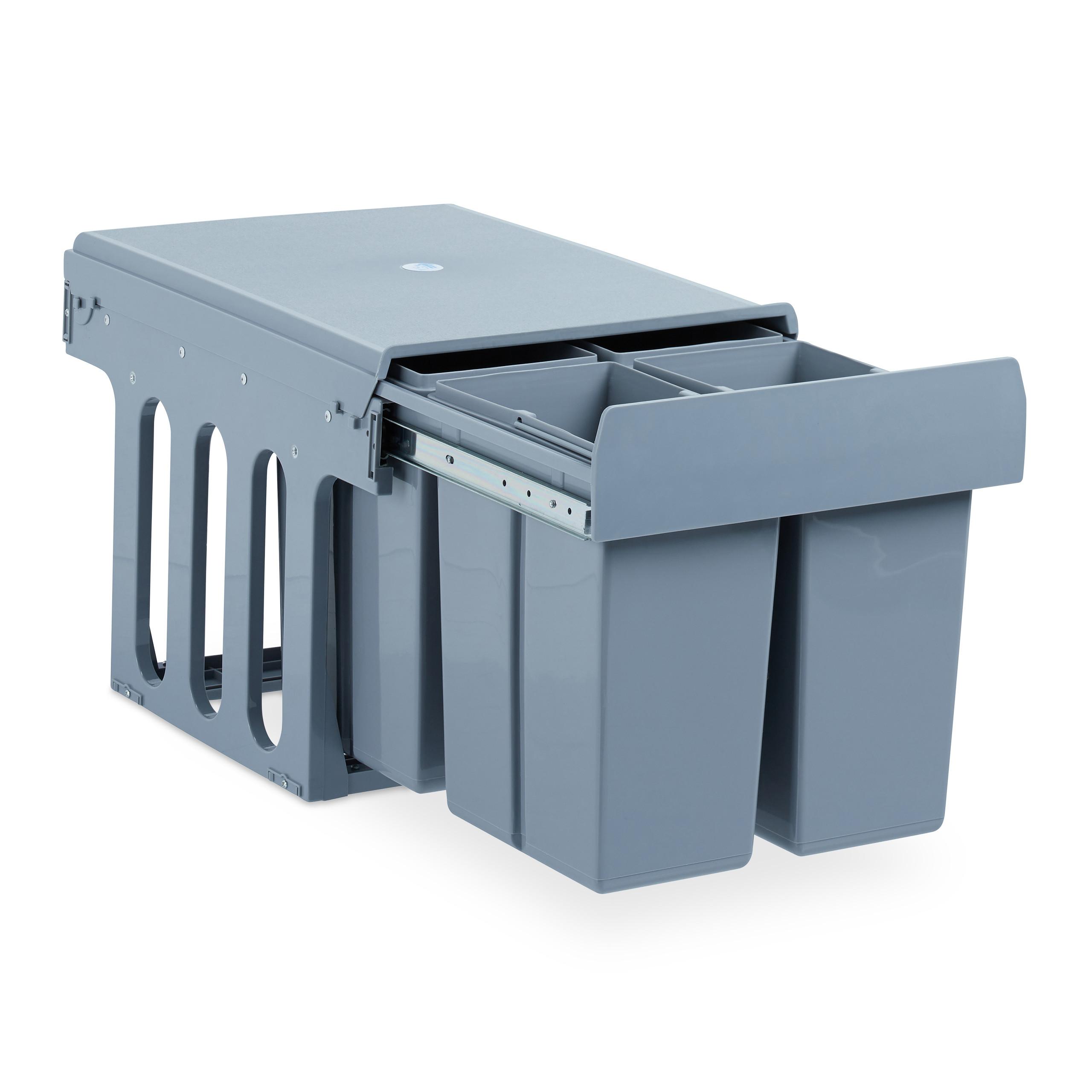 Details zu Einbaumülleimer Küche, Müllauszug 8-fach Küchenmülleimer  Müllsystem Unterschrank