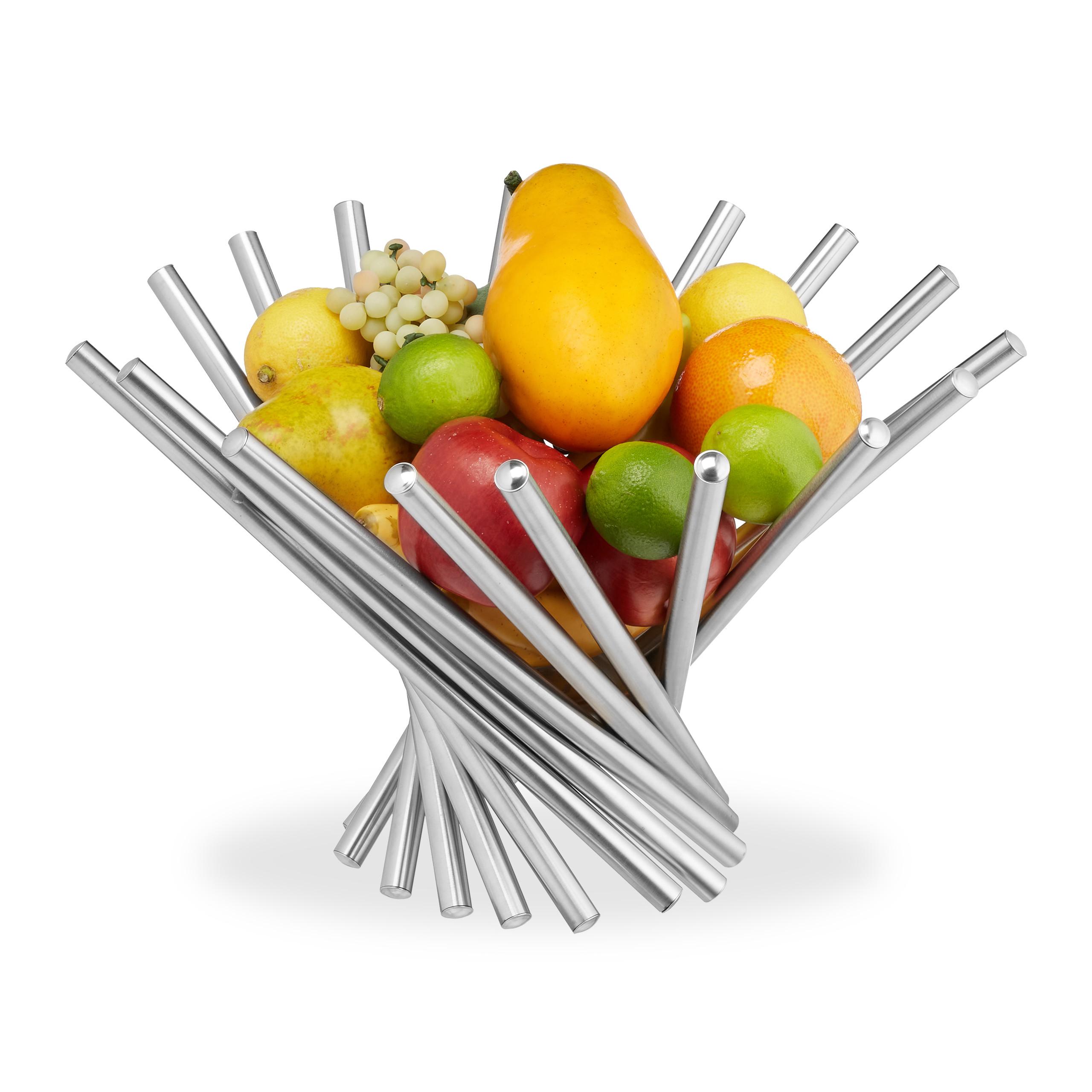 Snacks Obst Obstschale Dekorativer Obstkorb Sch/üssel Beh/älter Edelstahl Draht Aufbewahrungsk/örbe F/ür Brot Candy Kitchen Drain Rack