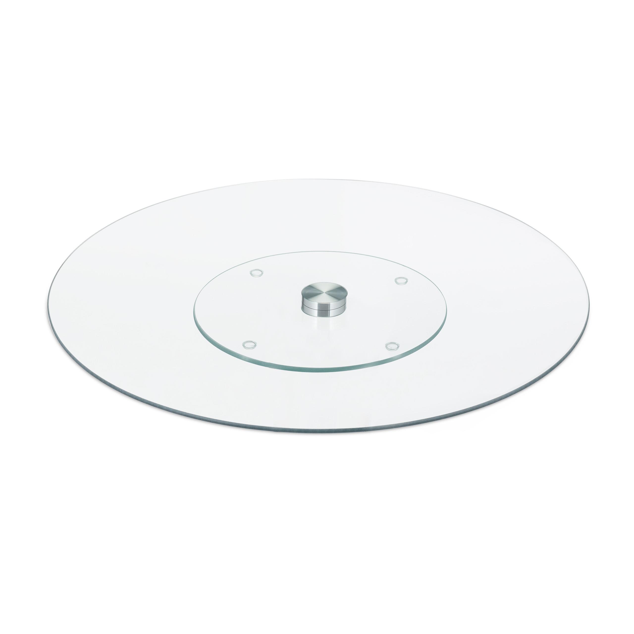 Servierplatte-Tortenplatte-Kuchenplatte-Glas-Drehteller-Kaeseplatte-drehbar-rund Indexbild 8