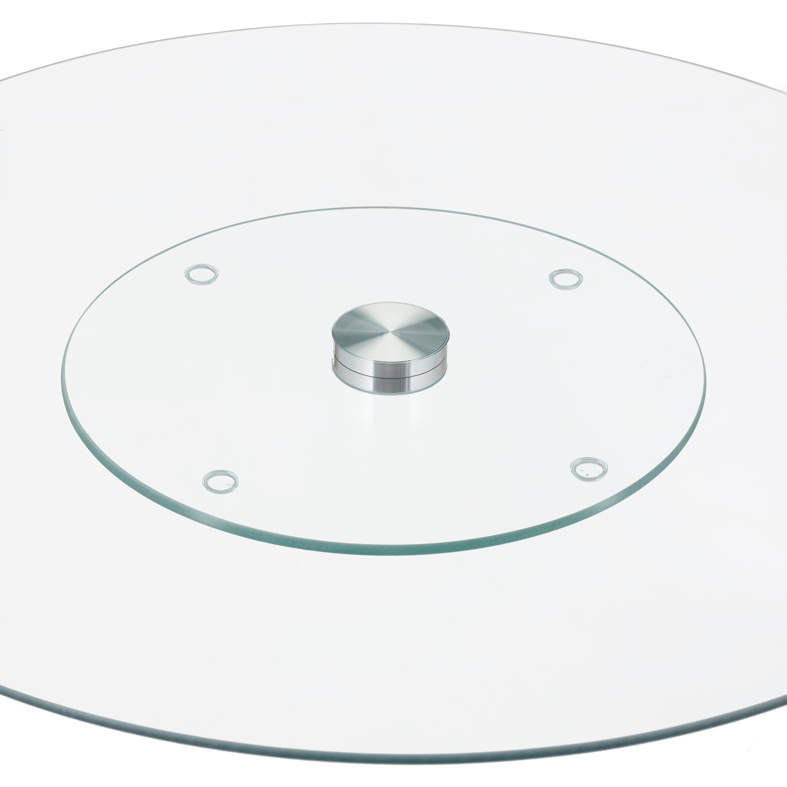 Servierplatte-Tortenplatte-Kuchenplatte-Glas-Drehteller-Kaeseplatte-drehbar-rund Indexbild 3