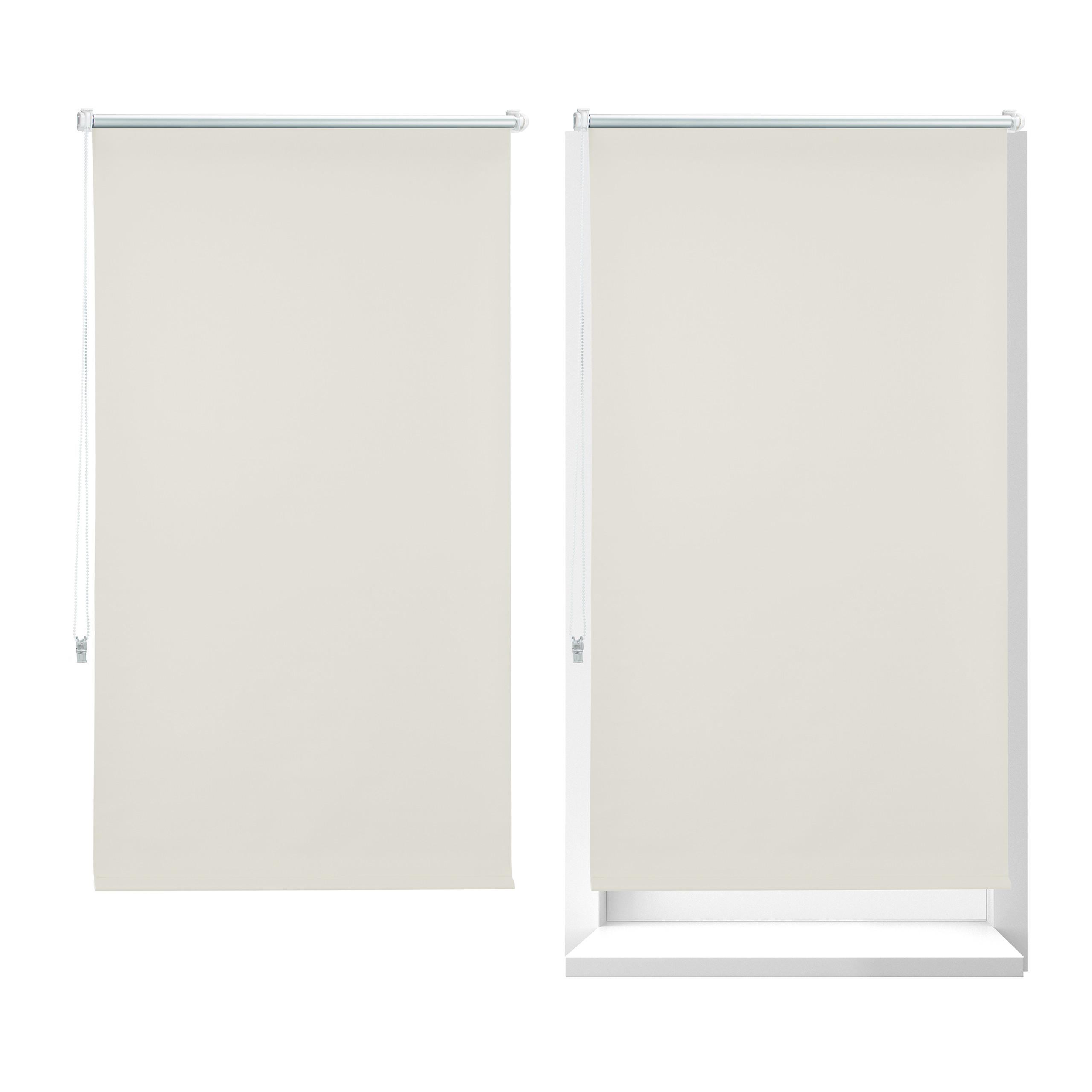 2X 90*210 Rollo Verdunklungsrollo Fensterrollo Beige Seitenzugrollo Sonnenschutz