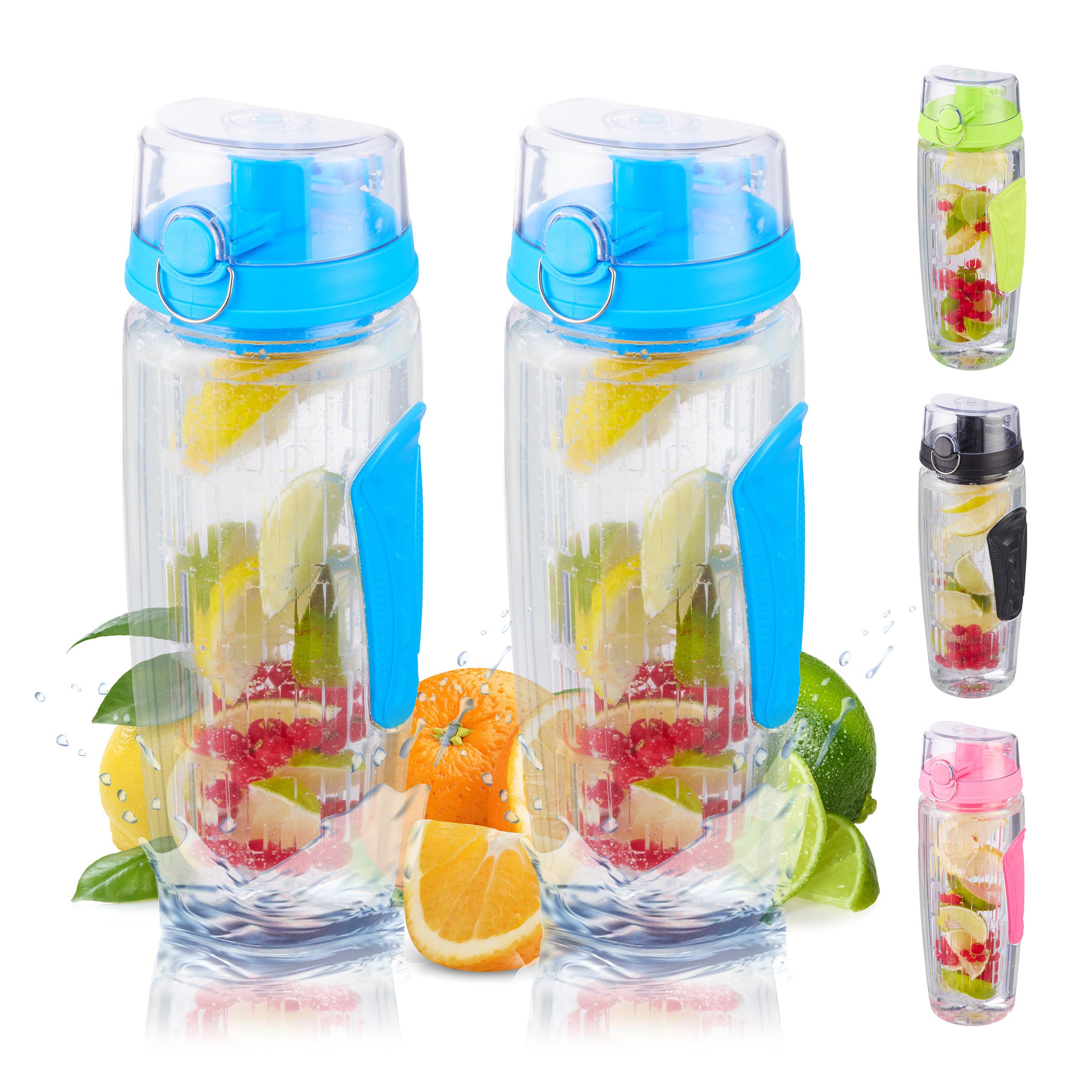 2 x Trinkflasche Obsteinsatz Infuser Trinkflasche Wasserflasche Infuser Bottle