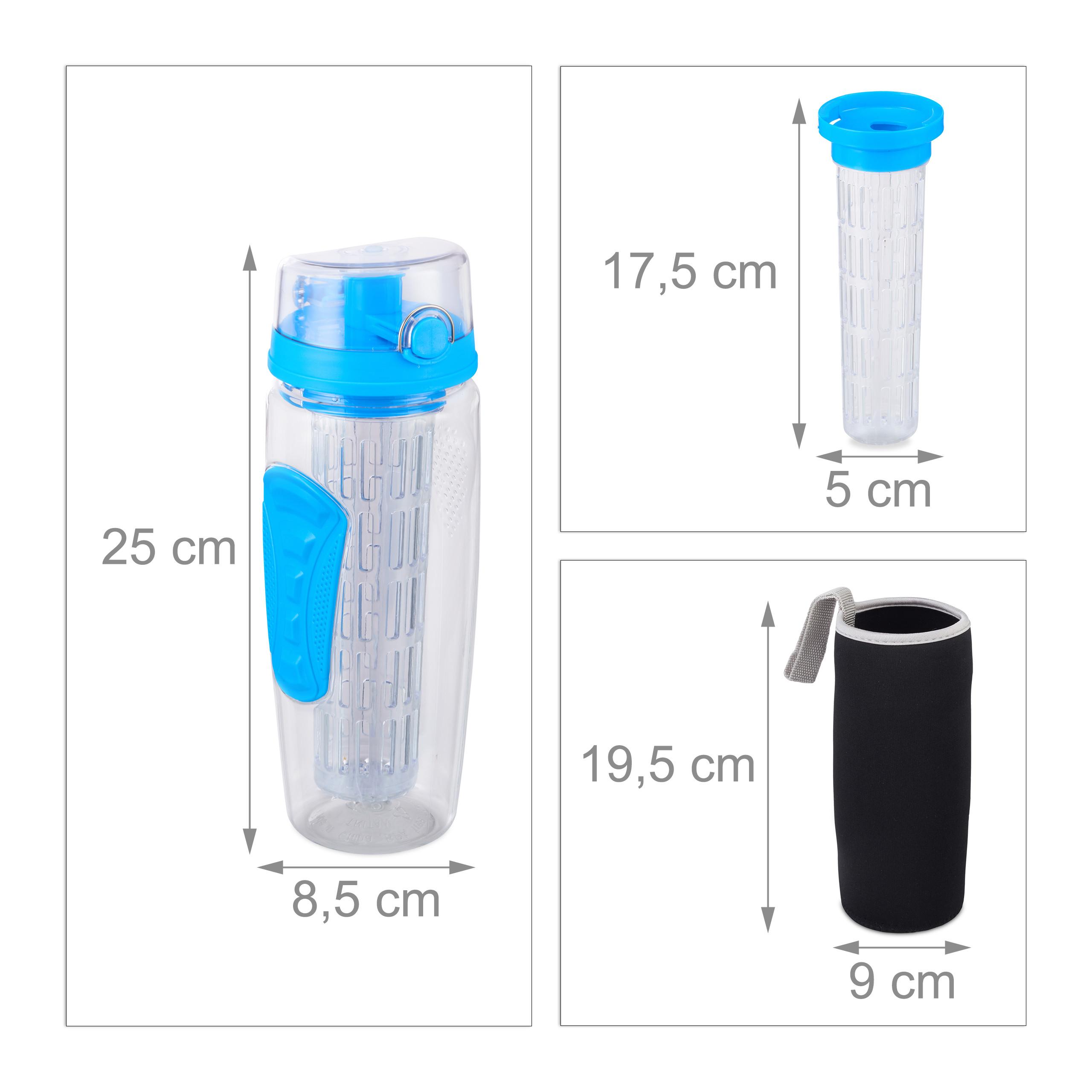 Indexbild 4 - 2 x Trinkflasche Obsteinsatz Infuser Trinkflasche Wasserflasche Infuser Bottle