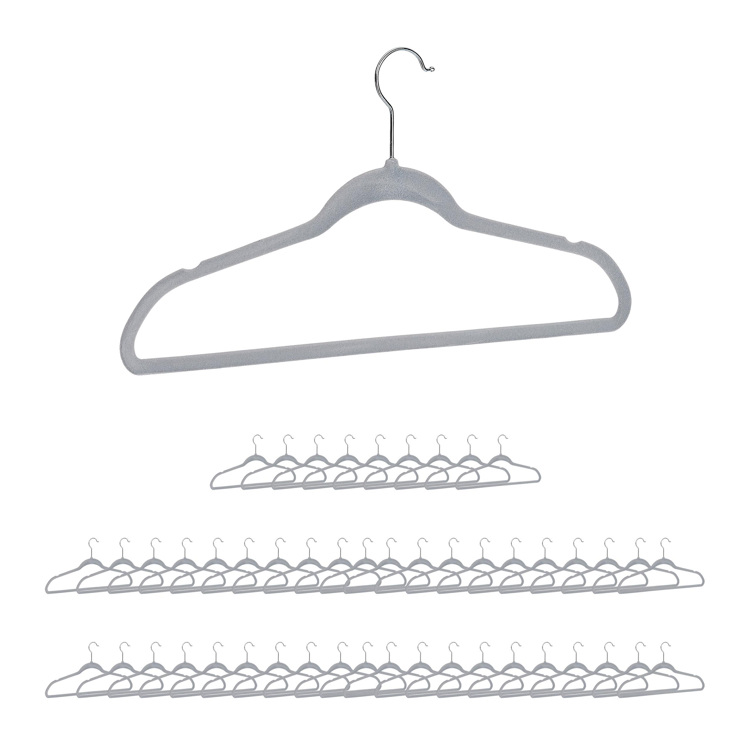 30 x Kleiderbügel Holz Garderobenbügel Hosenbügel Rockbügel Hemdbügel schwarz