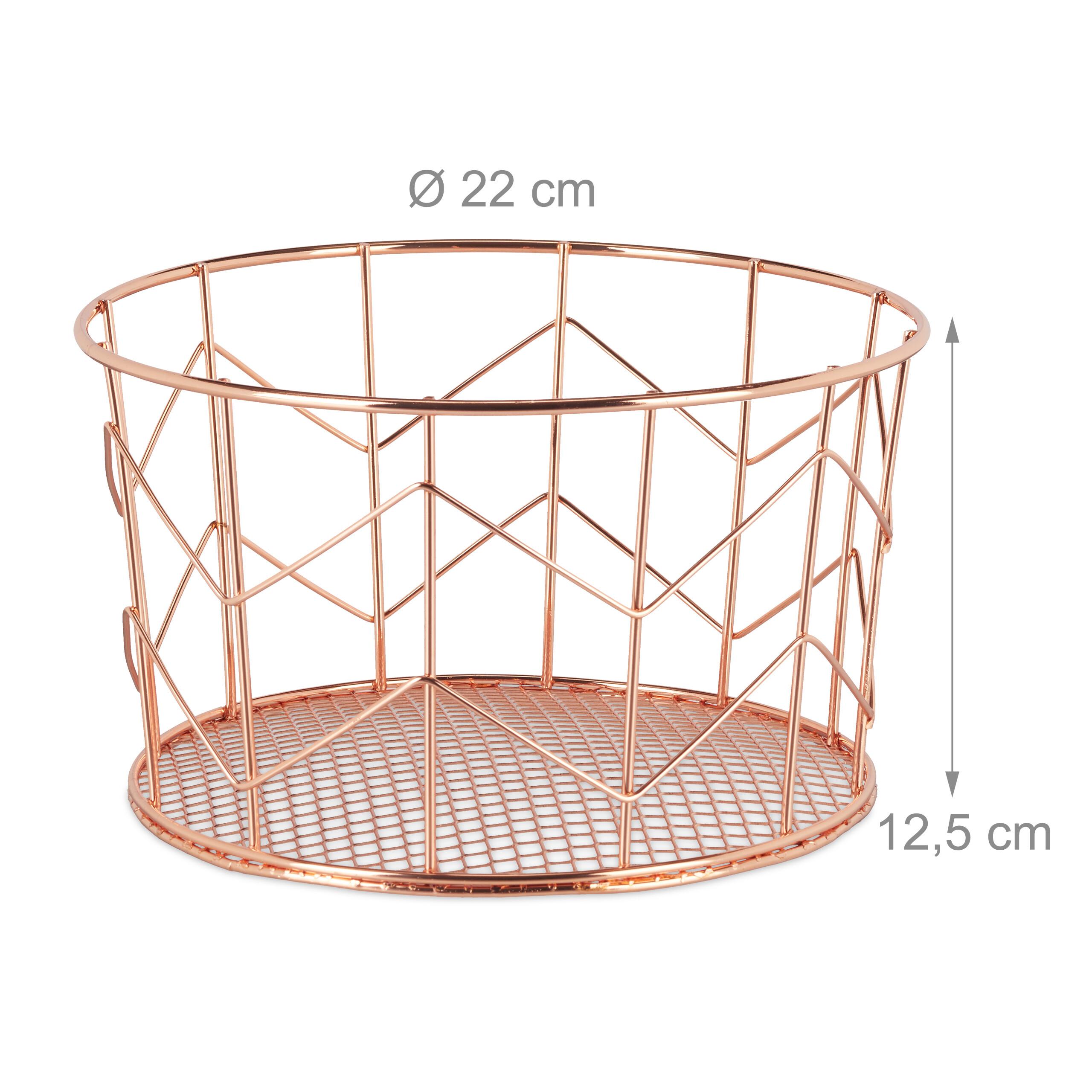 1 x Drahtkorb Deko Basket Allzweckkorb Aufbewahrungskorb Metallkorb Korb kupfer