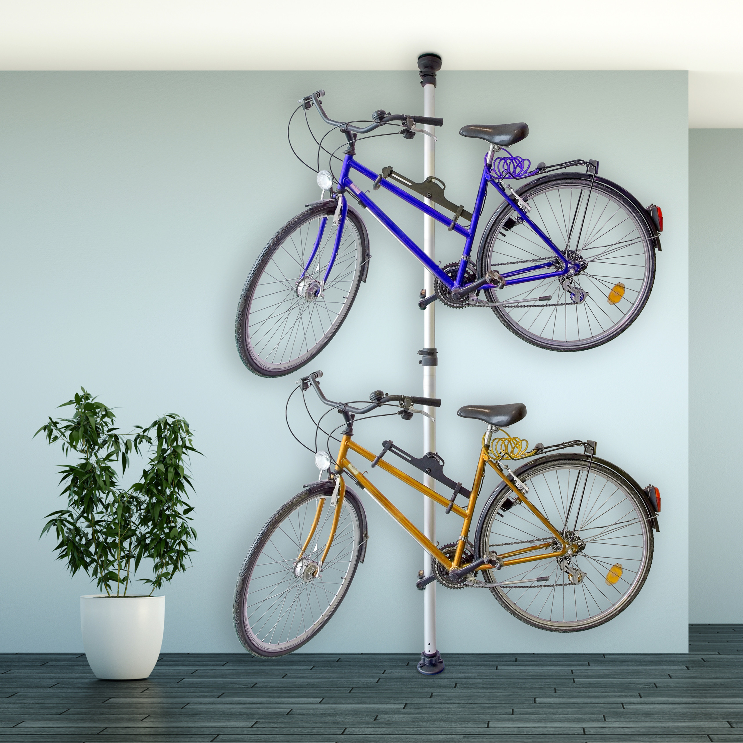 porte v lo range v lo pour 2 bicyclettes accroche support. Black Bedroom Furniture Sets. Home Design Ideas