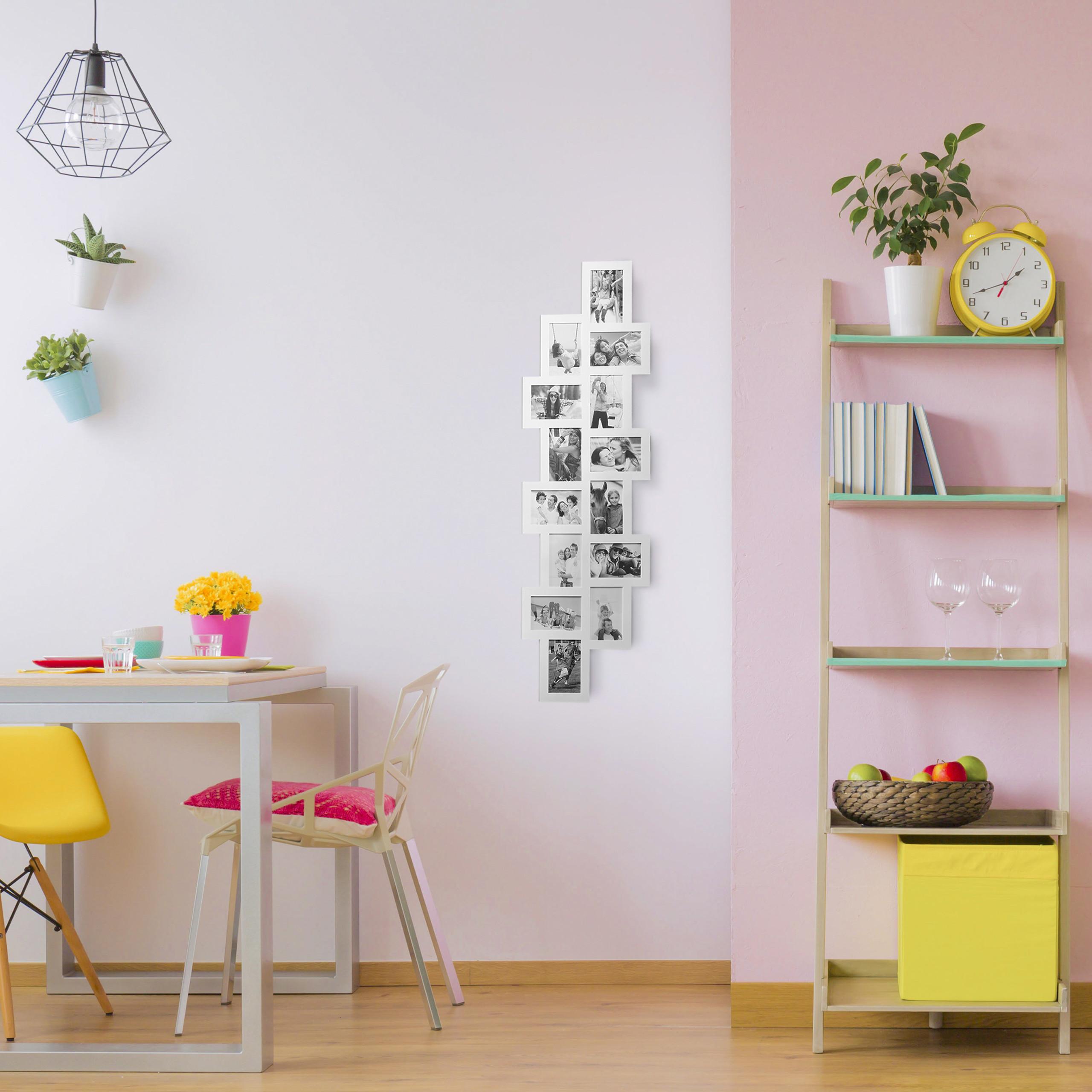 bilderrahmen collage f r 14 fotos mehrfachbilderrahmen fotocollage xxl rahmen ebay. Black Bedroom Furniture Sets. Home Design Ideas