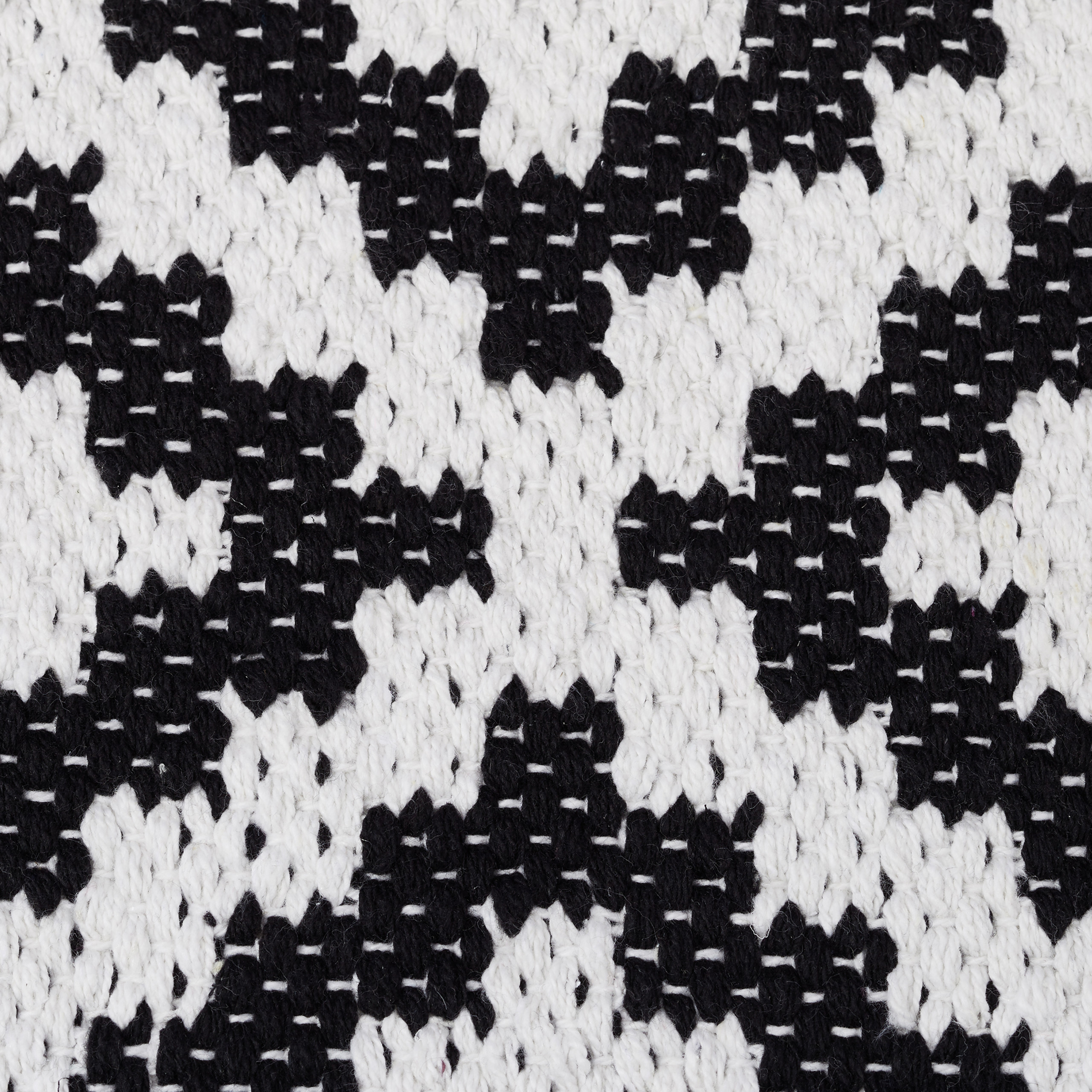 Black And White Rug Ebay Uk: Cotton Non-Slip Runner, Carpet Black And White Pattern