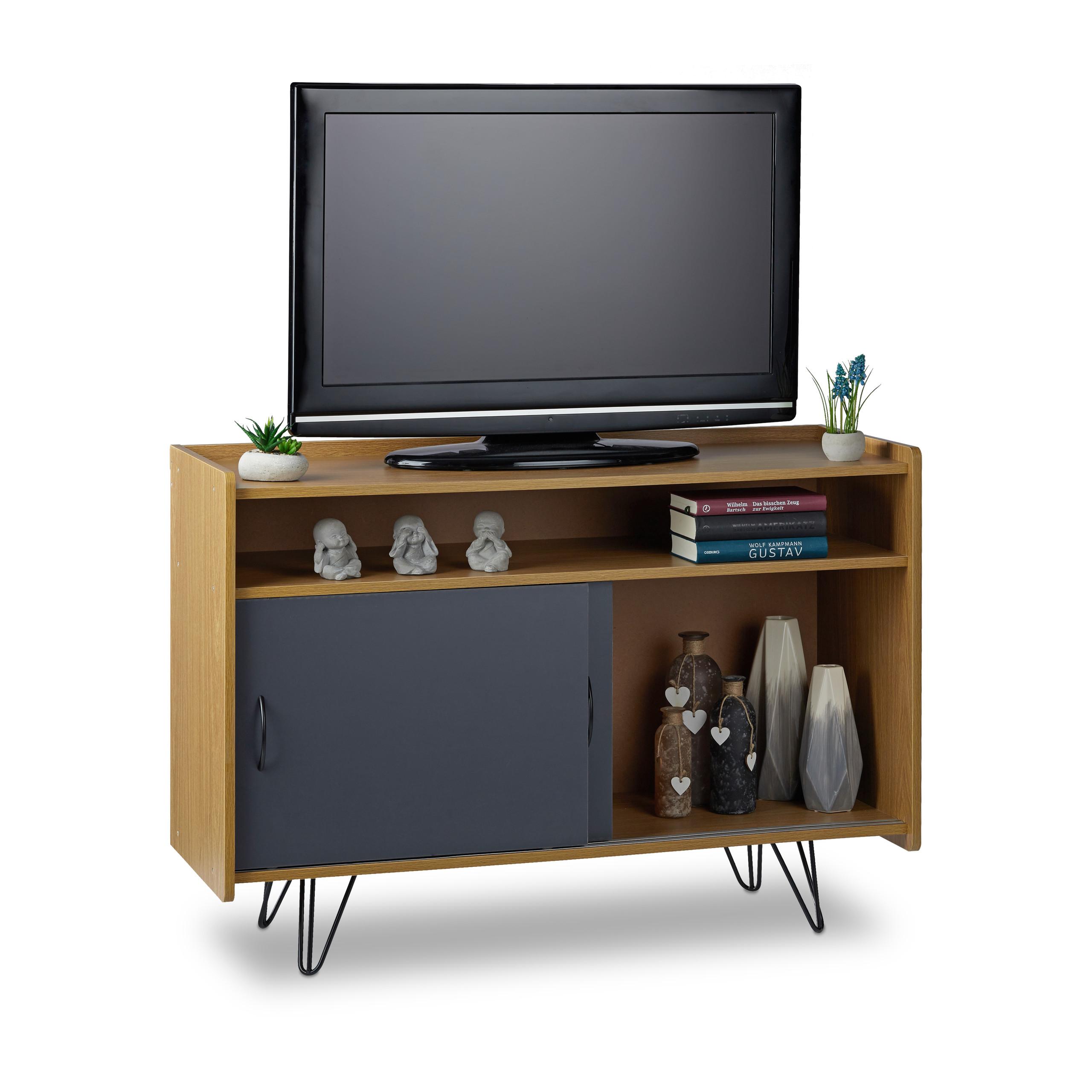 tv board vintage tv schrank tv sideboard tv kommode. Black Bedroom Furniture Sets. Home Design Ideas