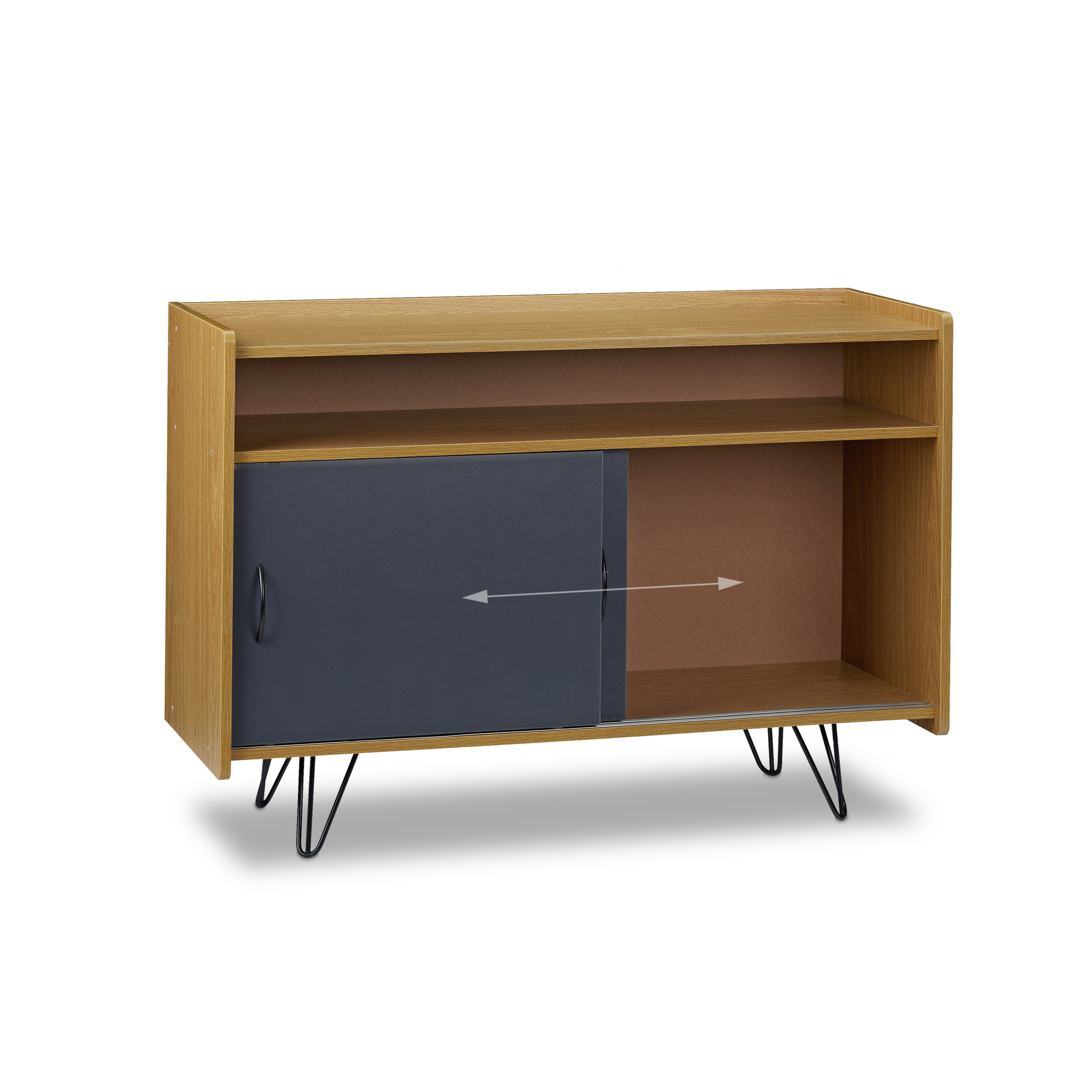 tv board vintage tv schrank tv sideboard tv kommode phonoschrank tv bank ebay. Black Bedroom Furniture Sets. Home Design Ideas
