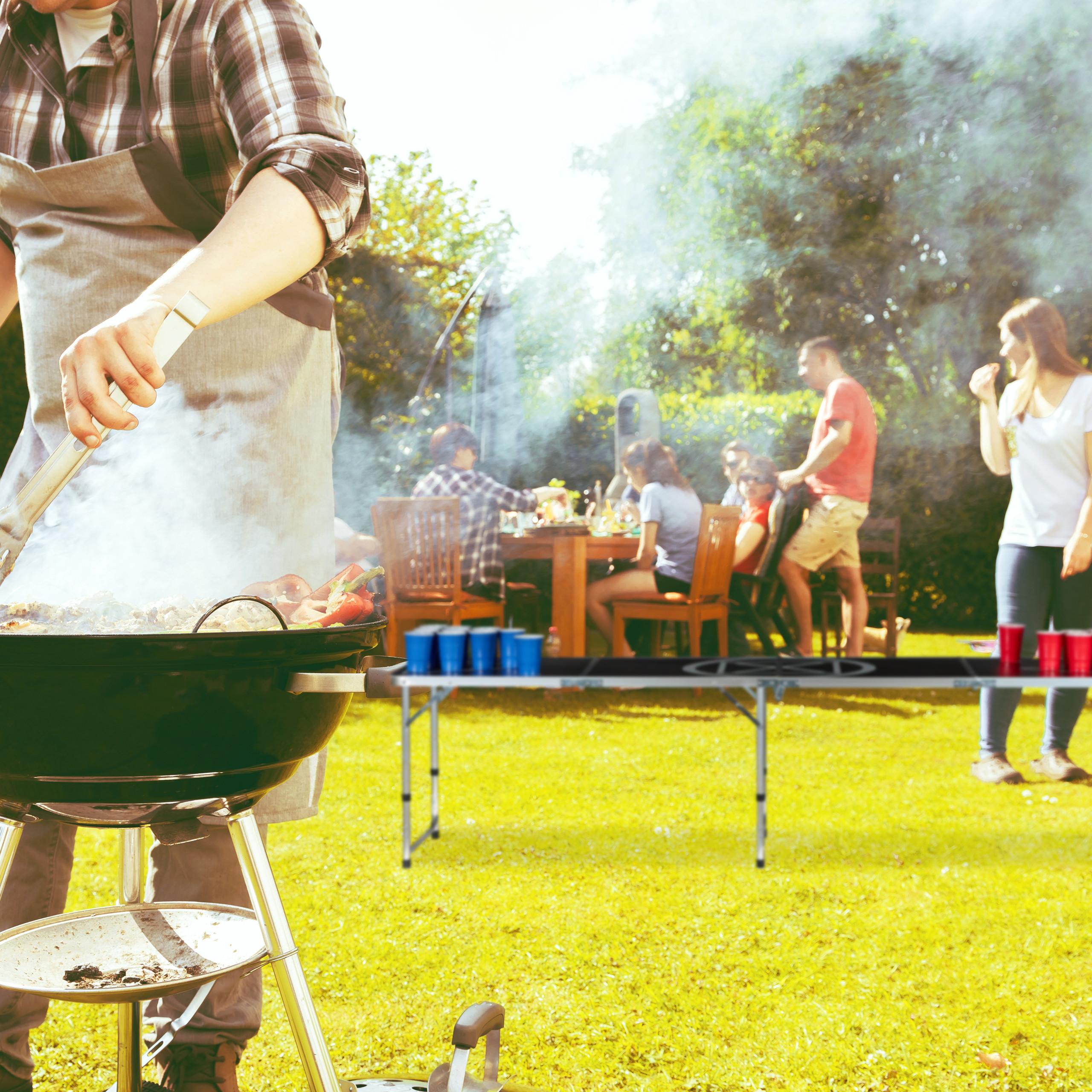 Details zu Beer Pong Tisch Campingtisch Partytisch Bierpong Bierspiel Klapptisch Trinkspiel