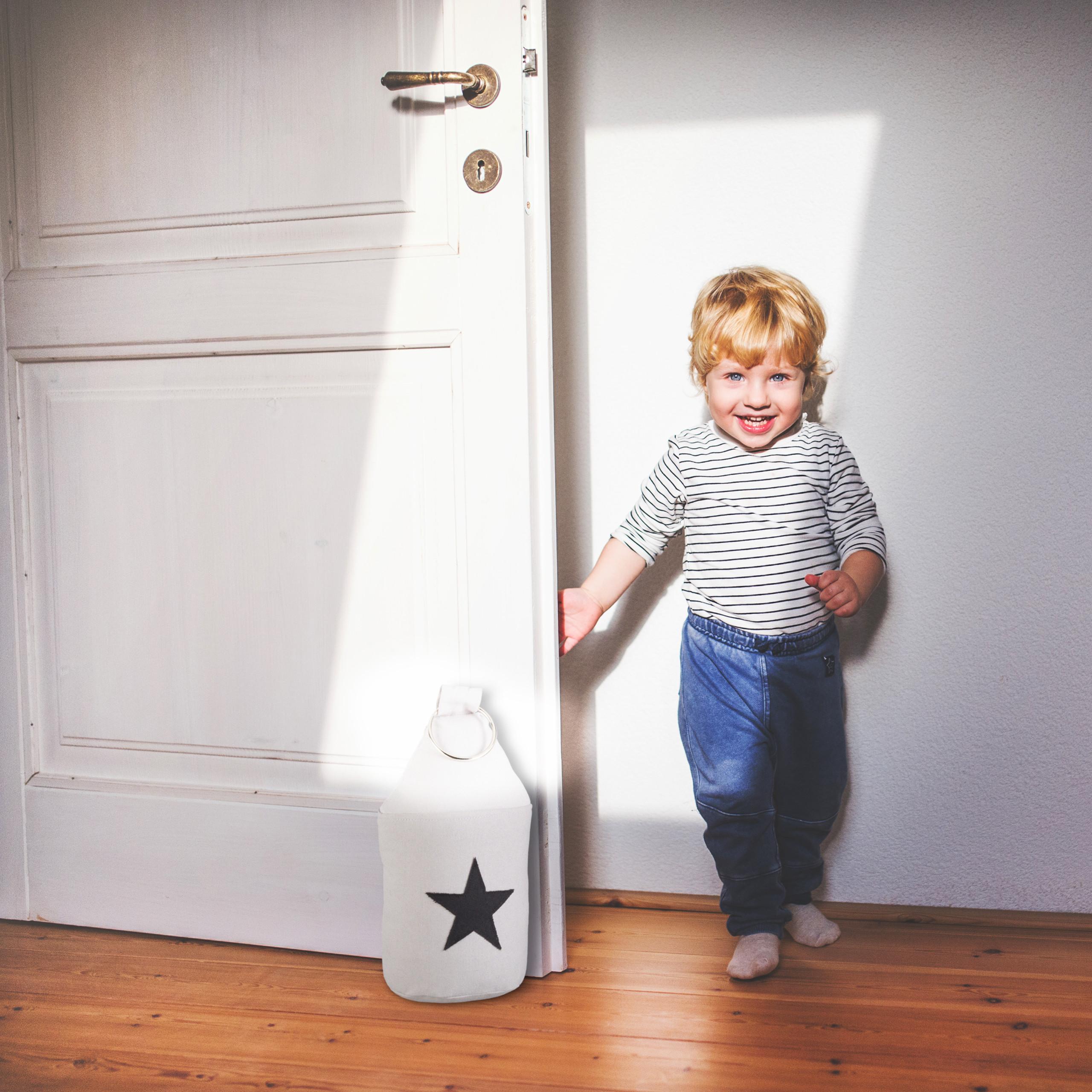 Door-Stop-with-Star-Fabric-Bumper-Floor-Doorstop-Tall-with-Handle-Chic thumbnail 15