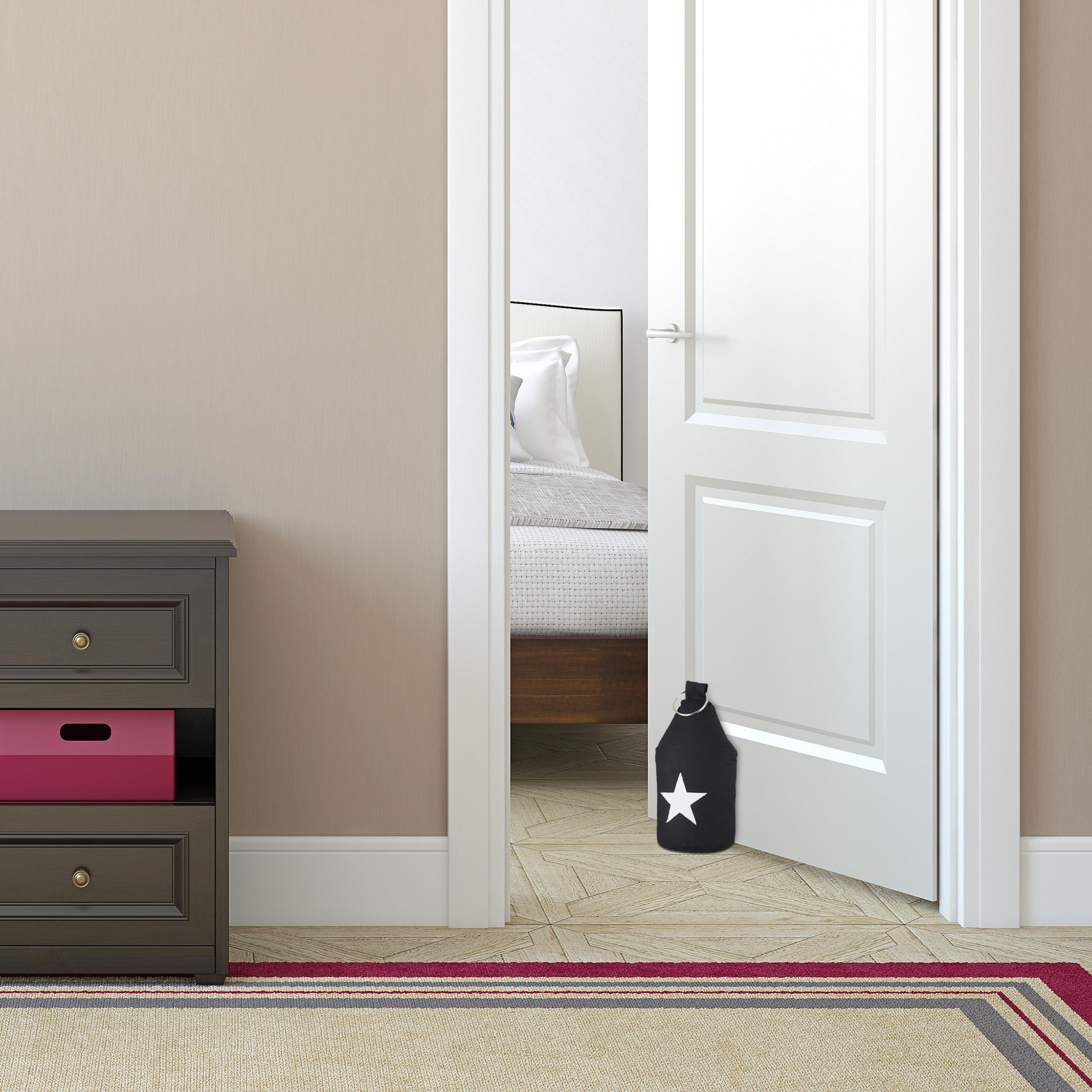 Door-Stop-with-Star-Fabric-Bumper-Floor-Doorstop-Tall-with-Handle-Chic thumbnail 4