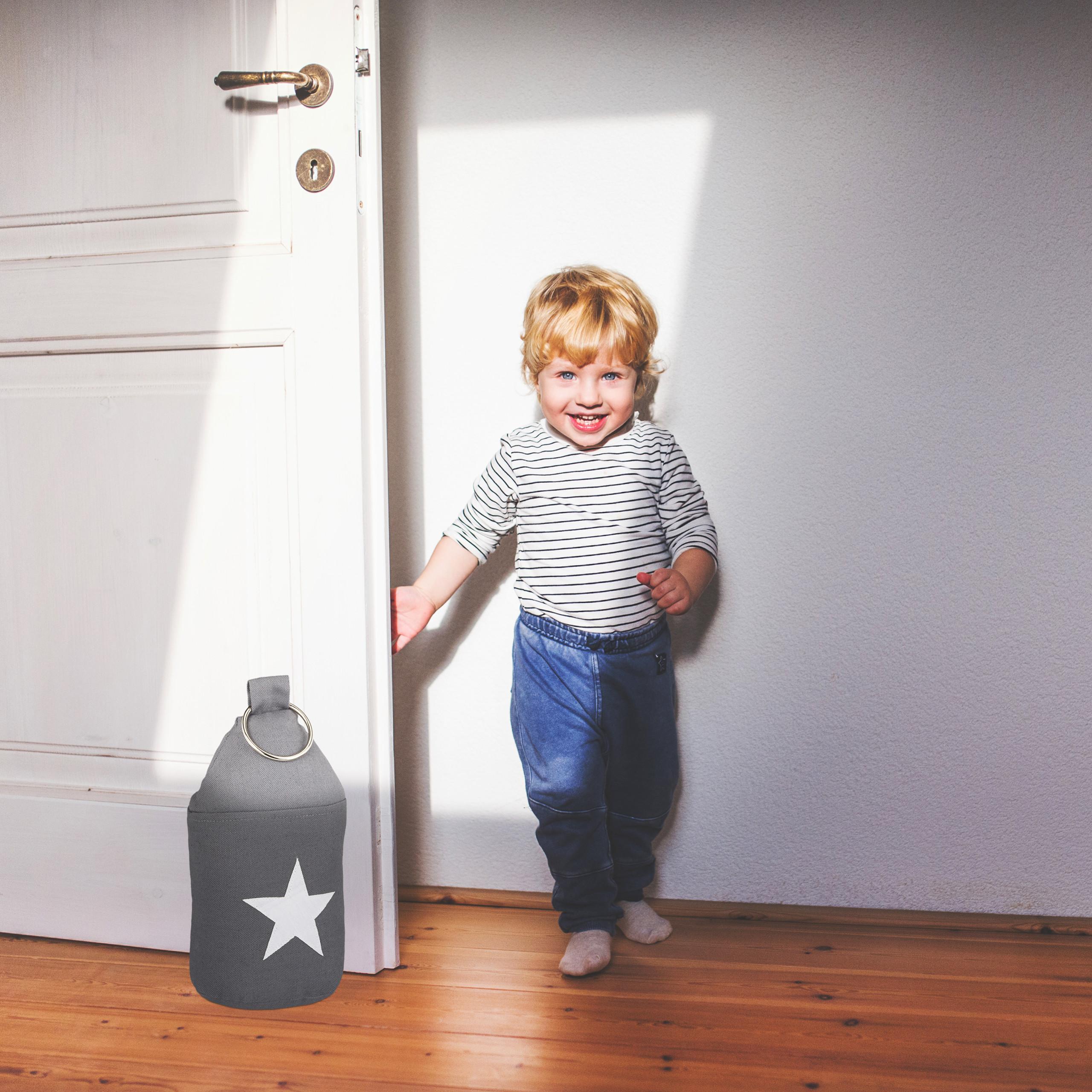 Door-Stop-with-Star-Fabric-Bumper-Floor-Doorstop-Tall-with-Handle-Chic thumbnail 9