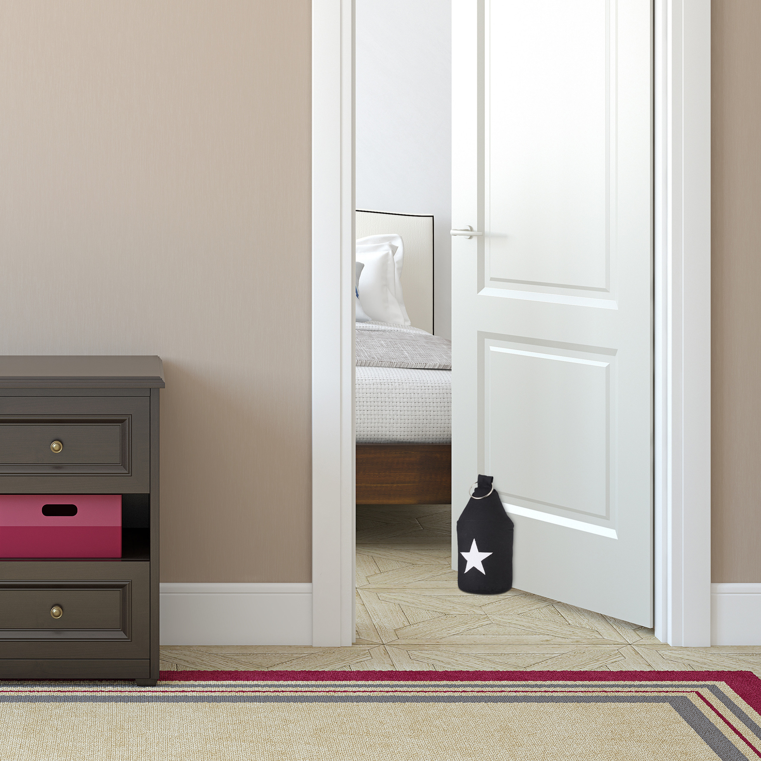 Door-Stop-with-Star-Fabric-Bumper-Floor-Doorstop-Tall-with-Handle-Chic thumbnail 10