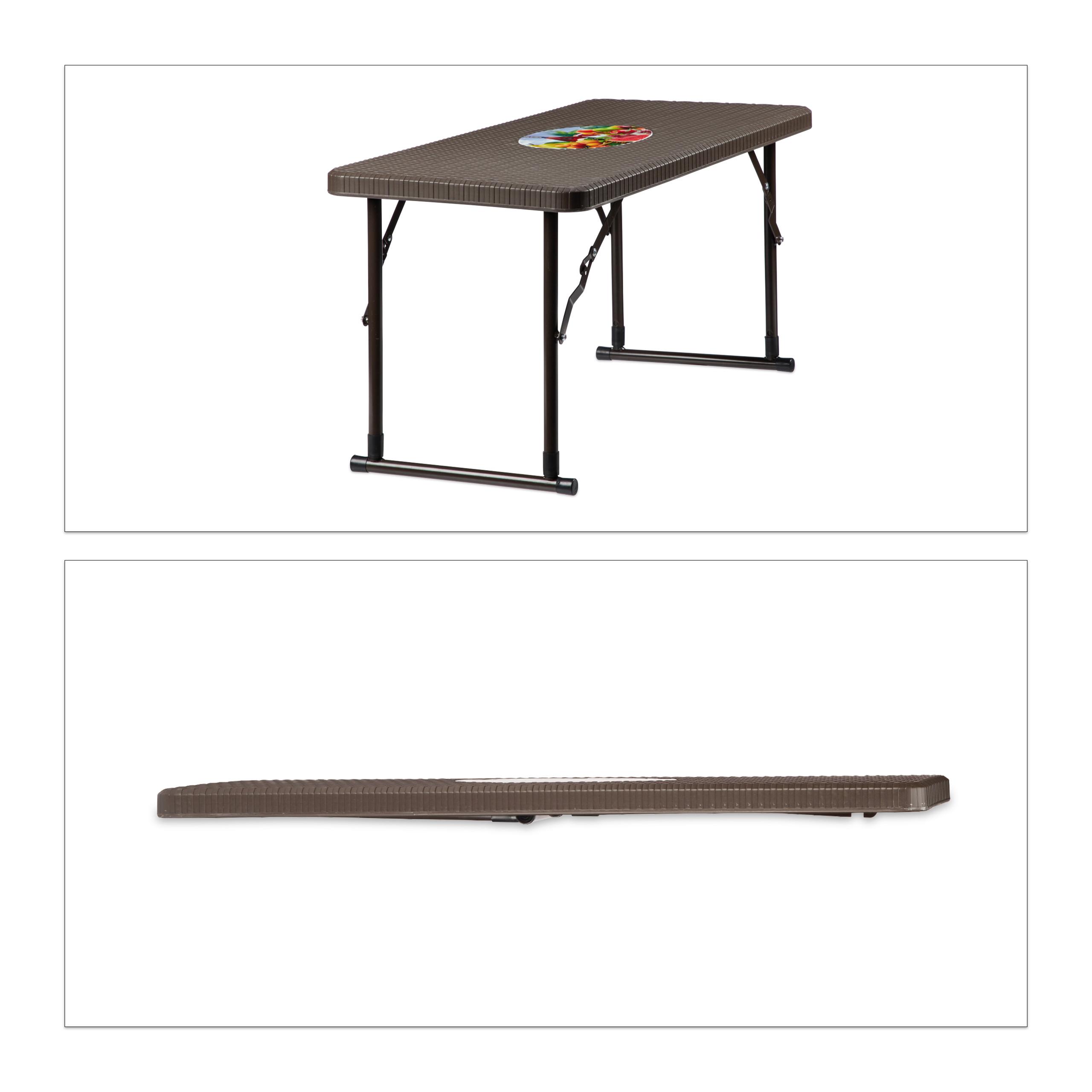 Conjunto mesa y sillas jardín de plástico, Mesa y sillas plegables ...
