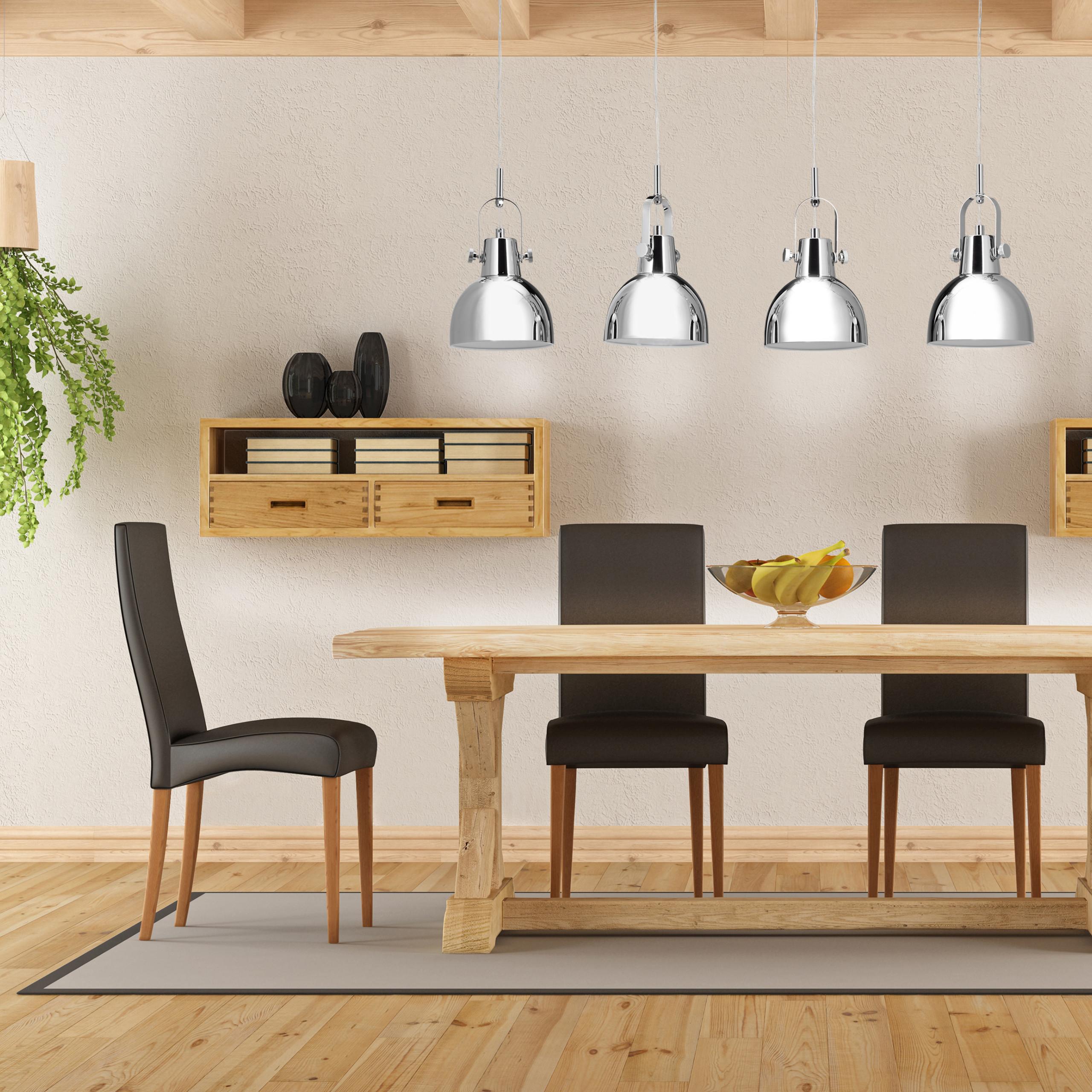 lampe suspension 4 ampoules vintage lampe de plafond m tal luminaire ebay. Black Bedroom Furniture Sets. Home Design Ideas